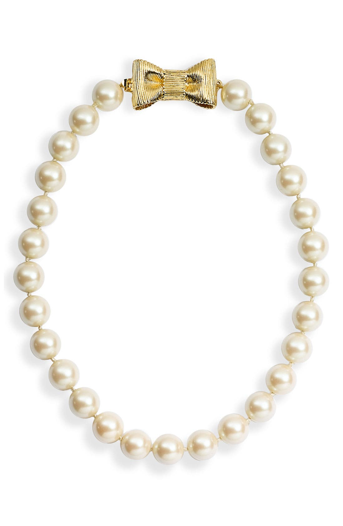 'all wrapped up' short glass pearl necklace,                         Main,                         color, Cream/ Gold