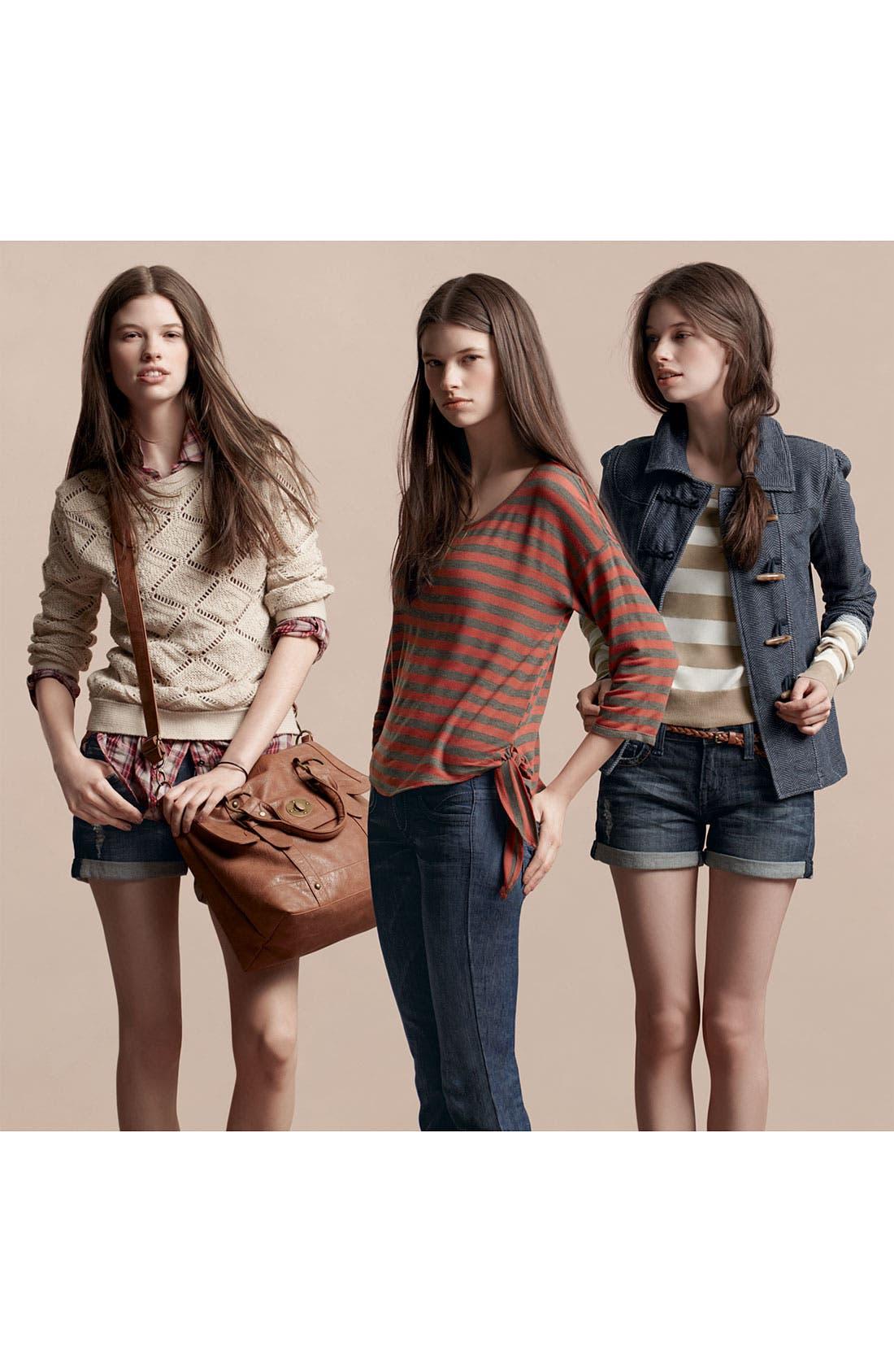 Alternate Image 3  - Love on a Hanger Ruffled Plaid Shirt (Juniors)
