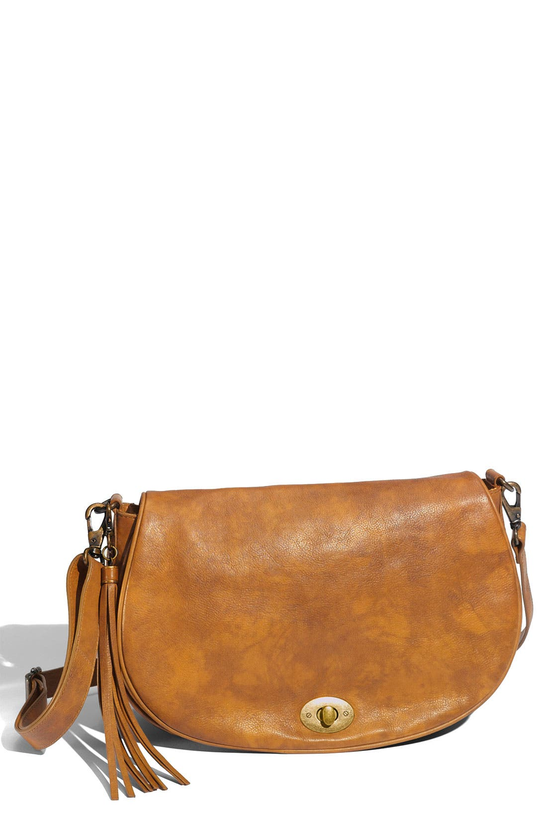 Main Image - Halogen® 'Half Moon' Tasseled Crossbody Bag