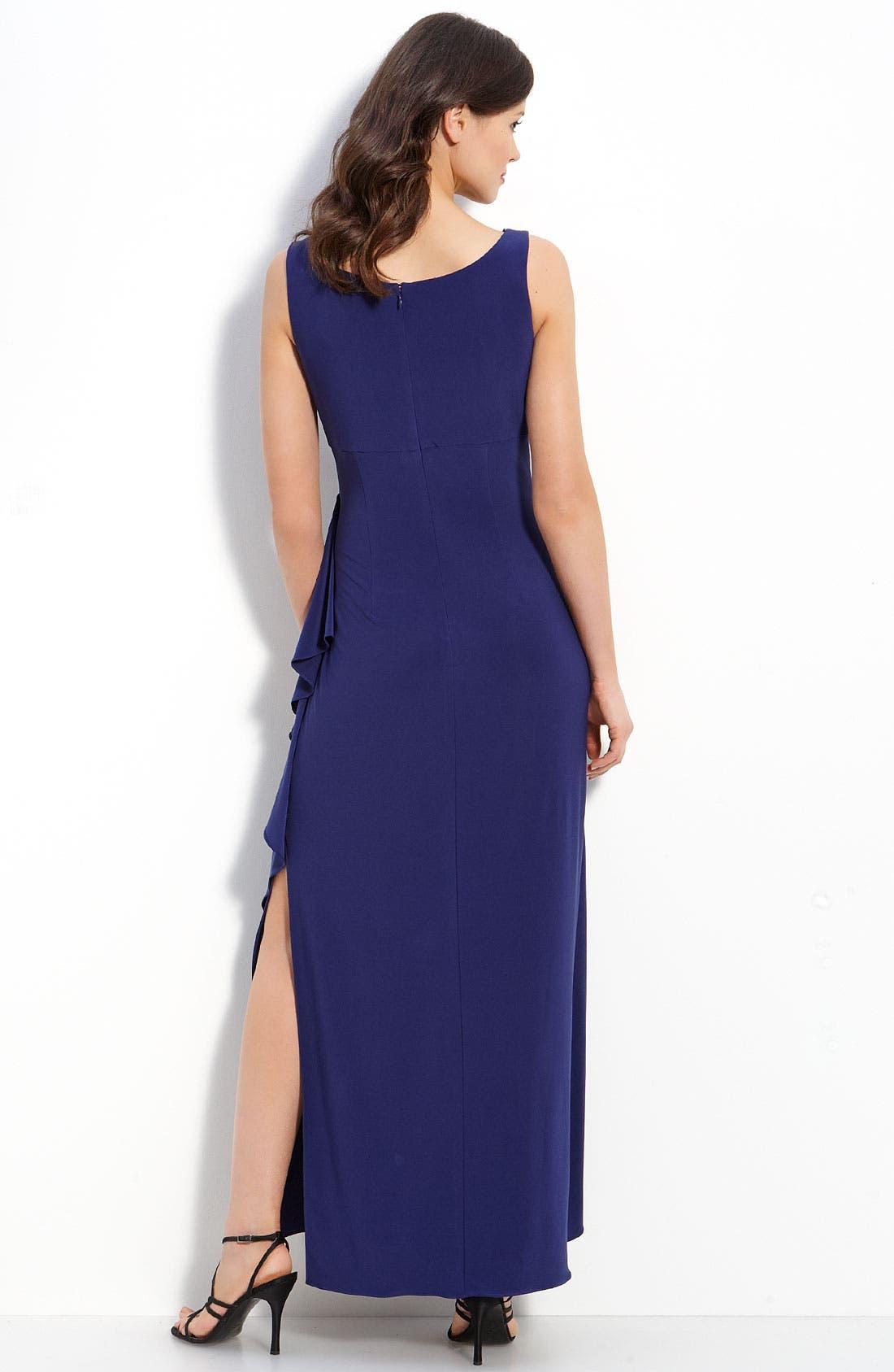 Alternate Image 3  - Alex Evenings Rhinestone Trim Jersey Dress & Bolero