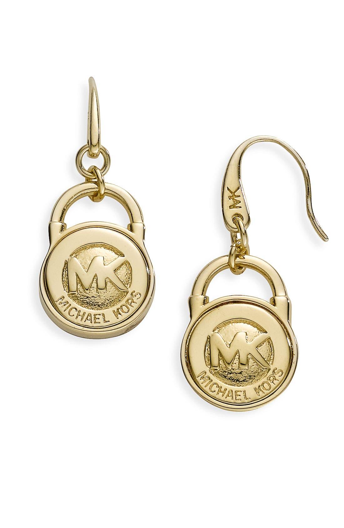 Main Image - Michael Kors Logo Earrings