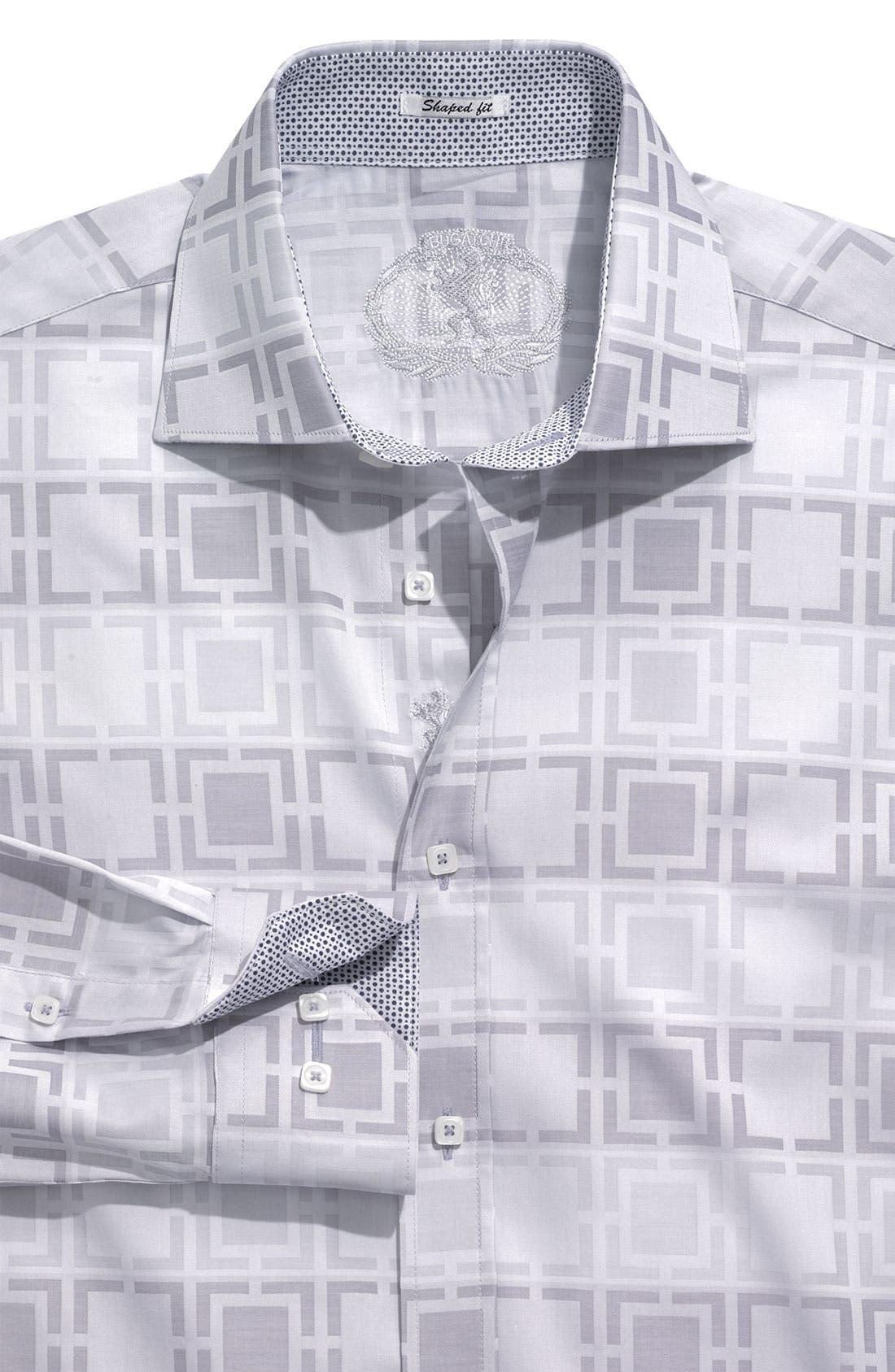 Alternate Image 1 Selected - Bugatchi Uomo 'Shaped Fit' Patterned Sport Shirt