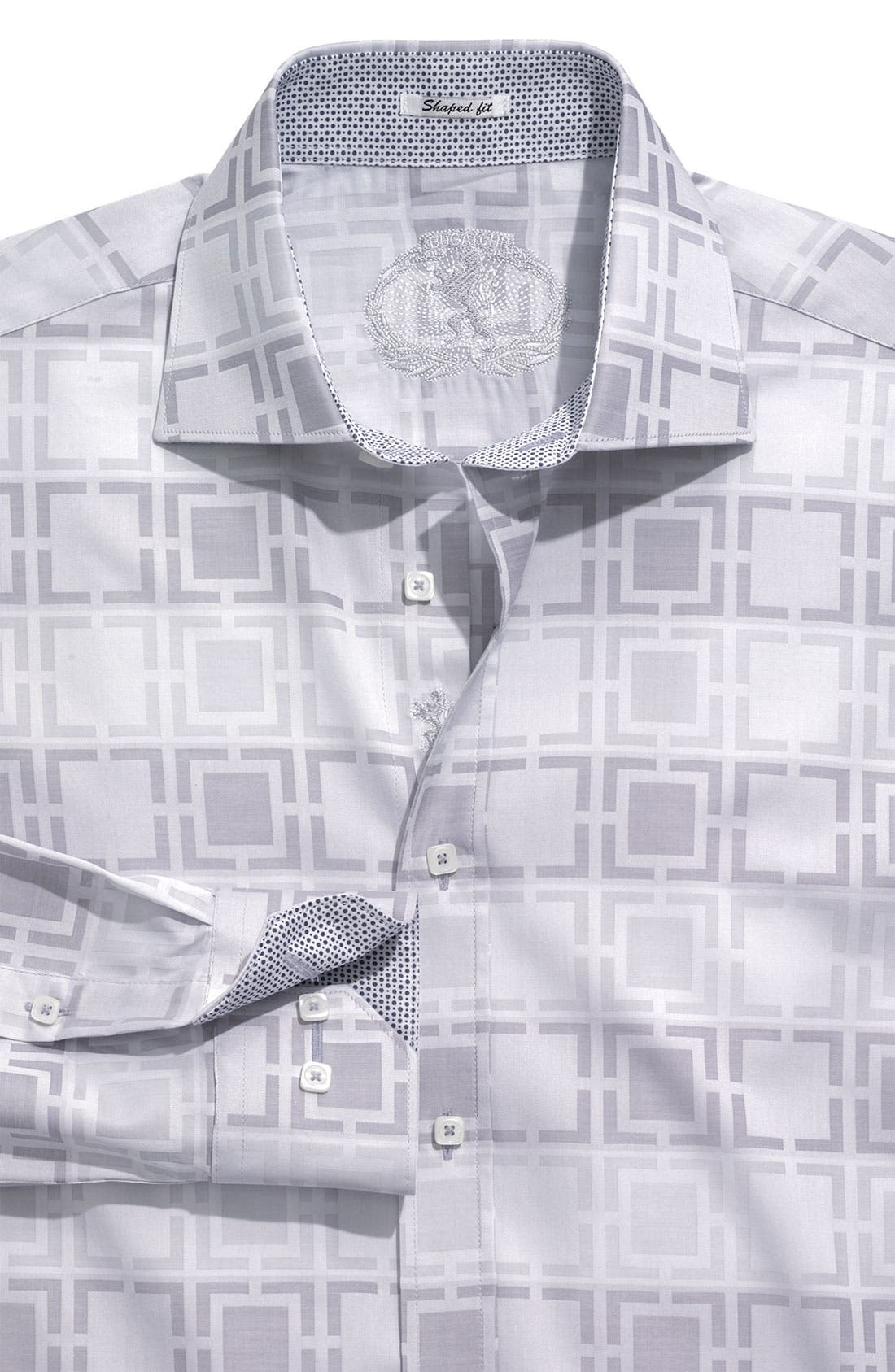 Main Image - Bugatchi Uomo 'Shaped Fit' Patterned Sport Shirt