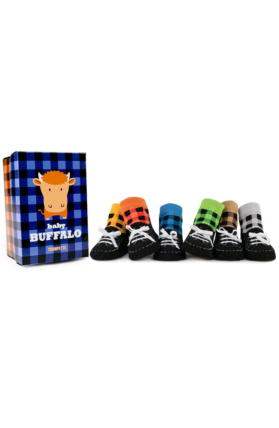 Alternate Image 1 Selected - Trumpette 'Baby Buffalo' Socks (6-Pack) (Infant)