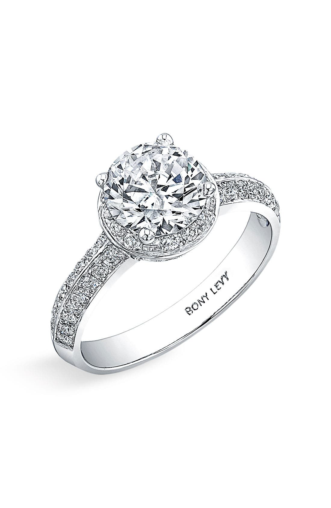 Main Image - Bony Levy Pavé Diamond Engagement Ring Setting (Nordstrom Exclusive)