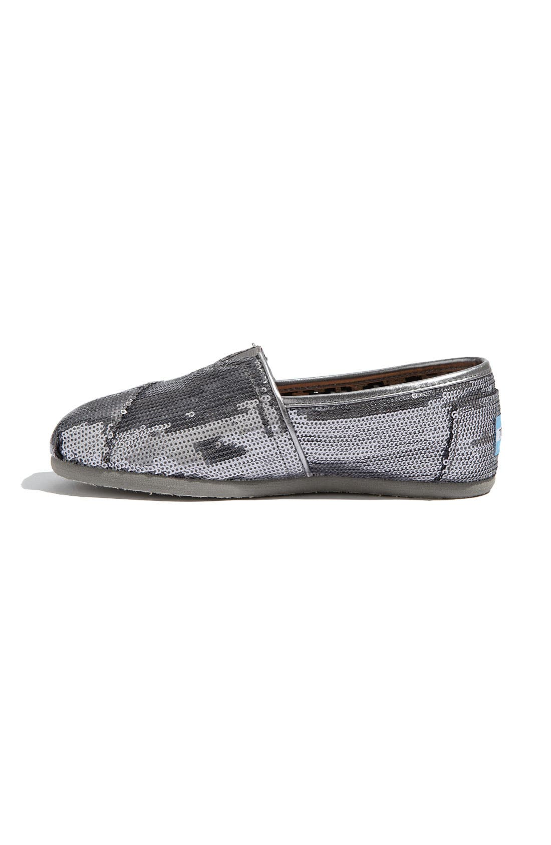 Alternate Image 2  - TOMS 'Classic - Sequins' Slip-On (Women)