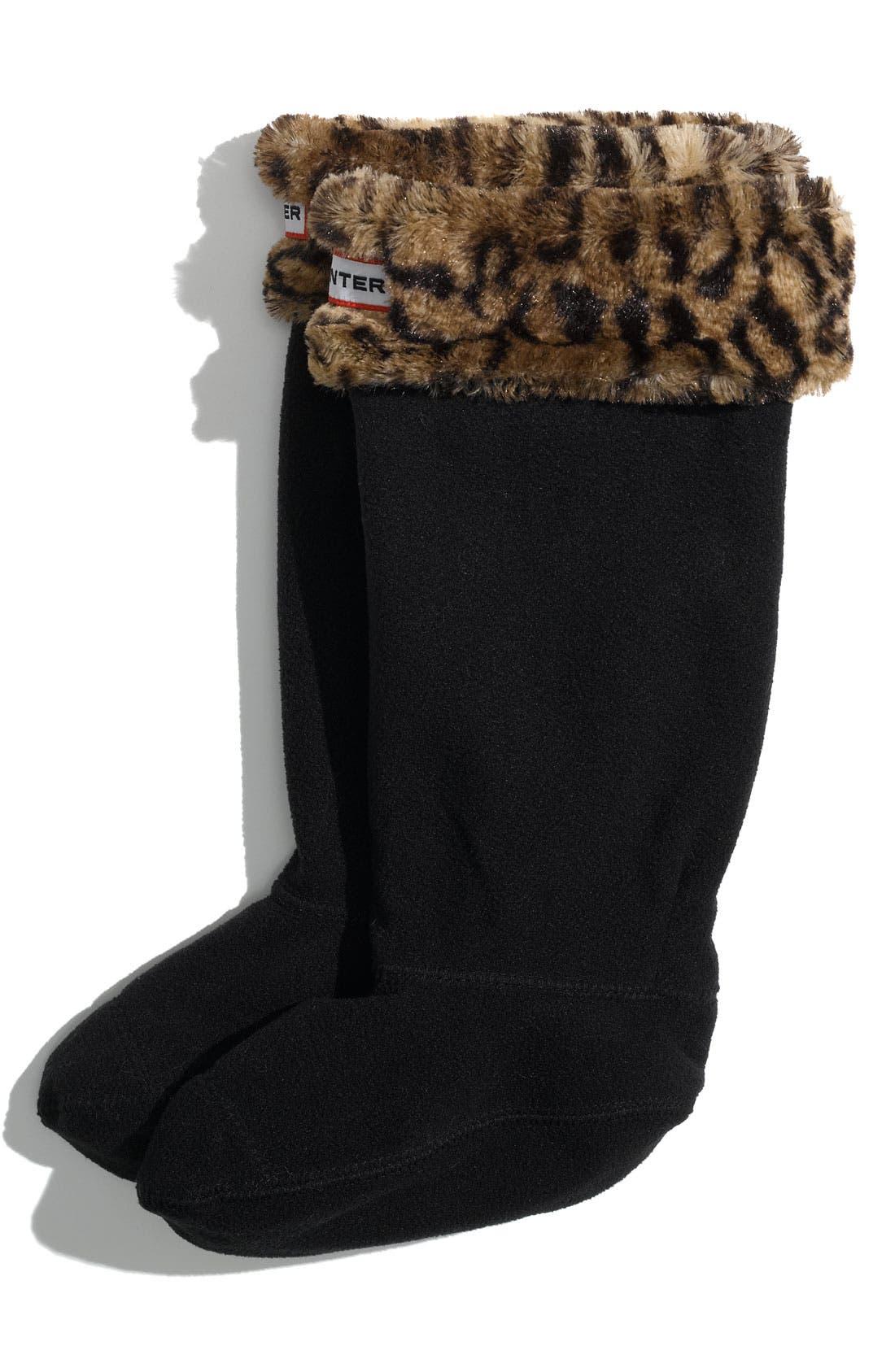 Alternate Image 1 Selected - Hunter Patterned Fleece Welly Socks (Toddler, Little Girls & Big Girls)