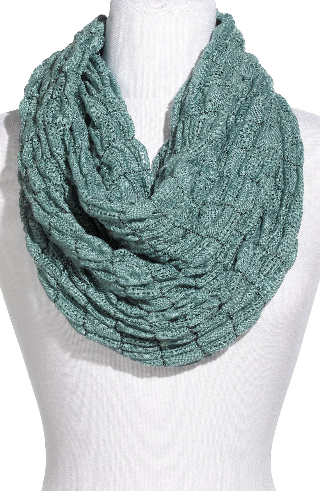 Alternate Image 1 Selected - Rubbish® Textured Check Infinity Scarf