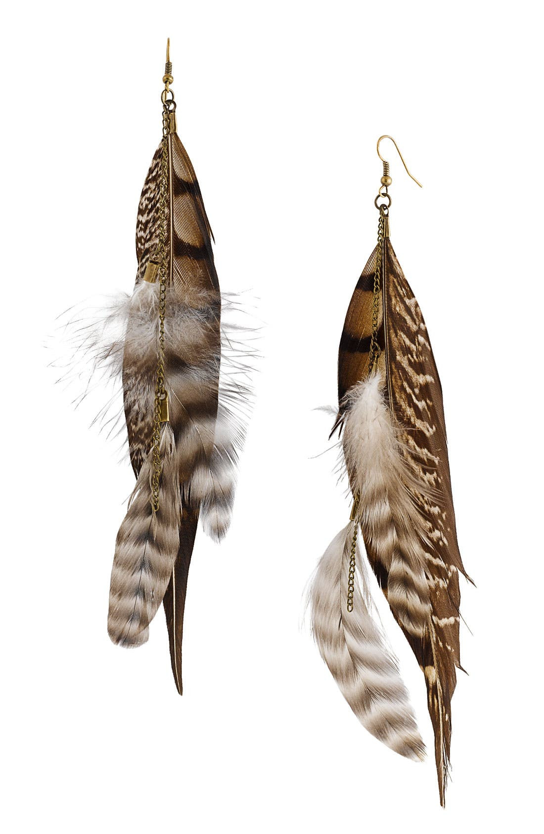 Alternate Image 1 Selected - Carole Feather & Chain Cascade Earrings