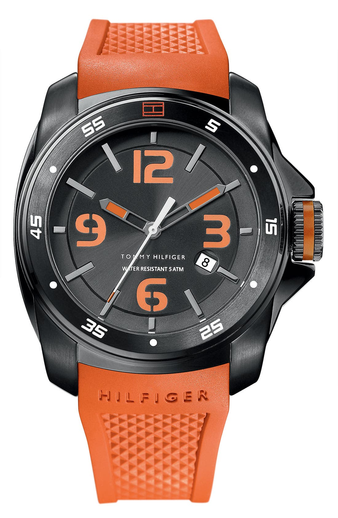 Main Image - Tommy Hilfiger Silicone Strap Watch, 49mm