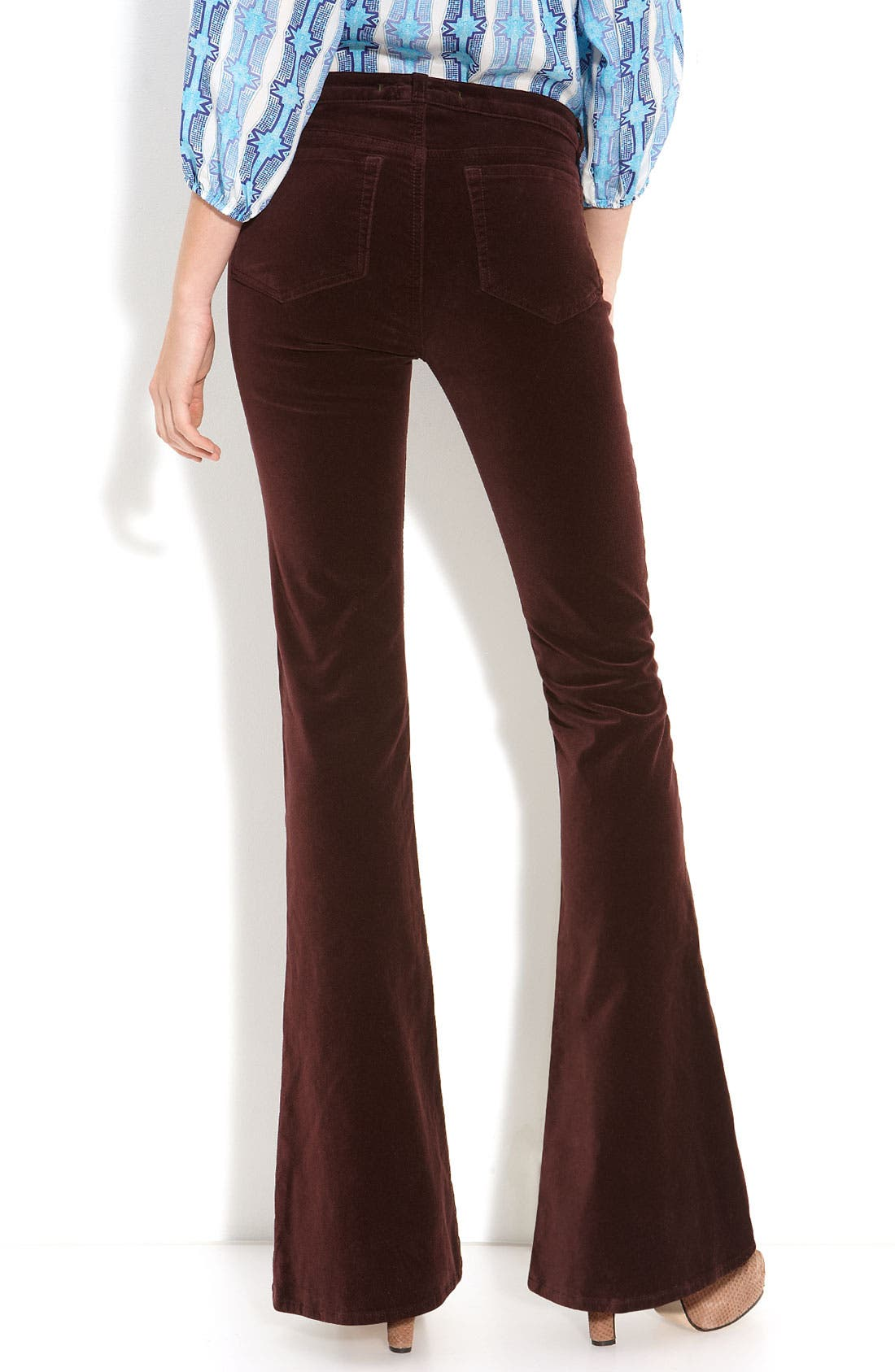 Alternate Image 1 Selected - J Brand 'Velvet Martini' Skinny Flare Leg Jeans