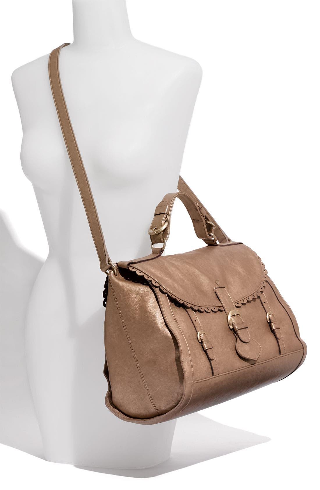 Alternate Image 2  - See By Chloé 'Poya Vintage - Large' Metallic Leather Satchel