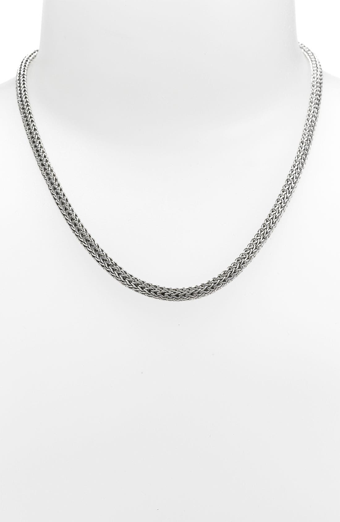 Alternate Image 1 Selected - John Hardy Pavé Diamond Clasp Small Chain Necklace