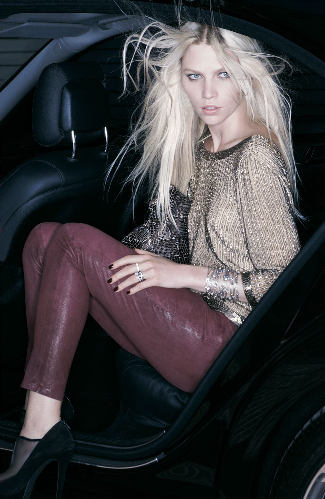Alternate Image 2  - Current/Elliott Leather Skinny Ankle Pants