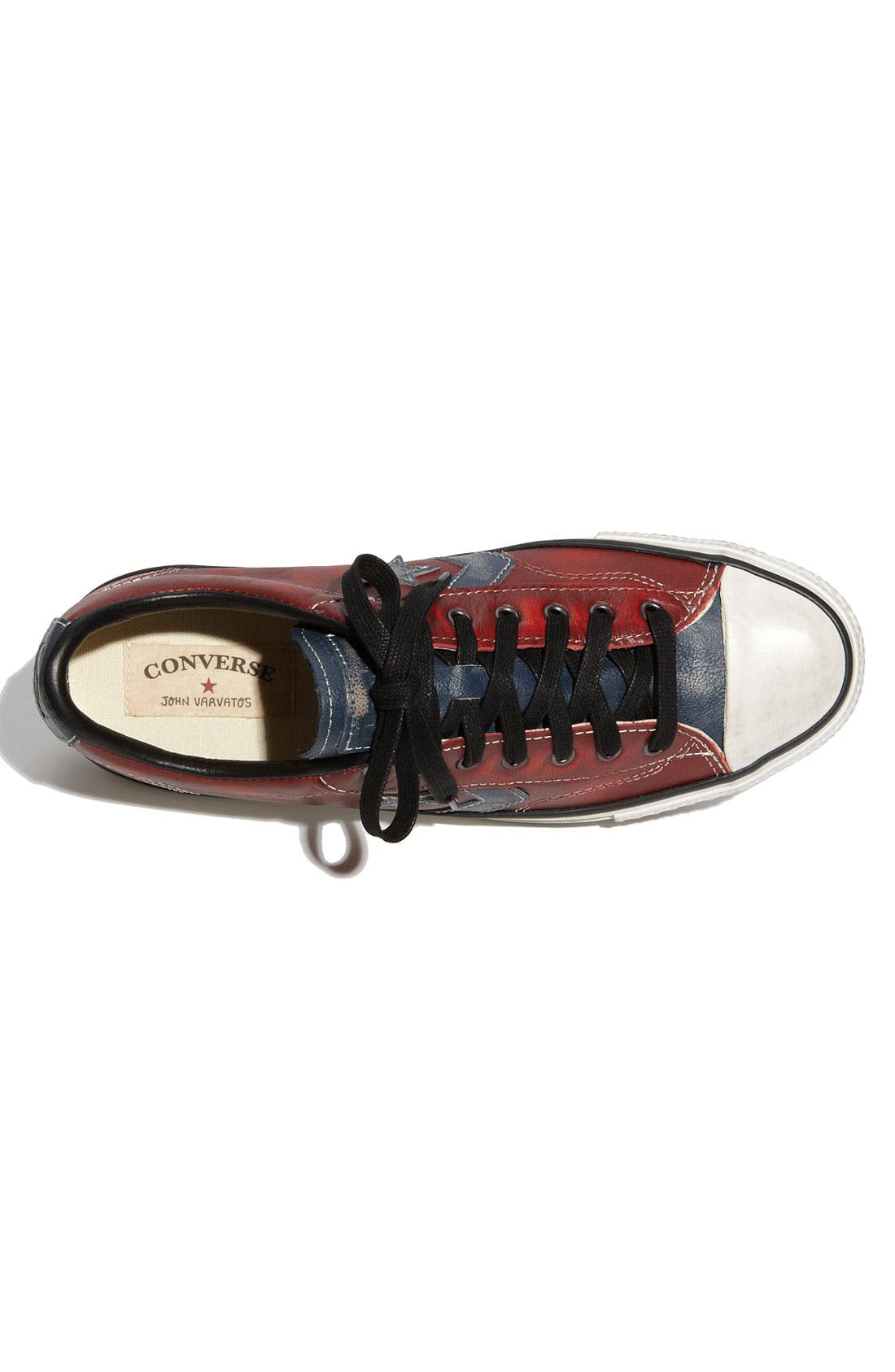 'Star Player' Leather Sneaker,                             Alternate thumbnail 2, color,                             Red / Blue