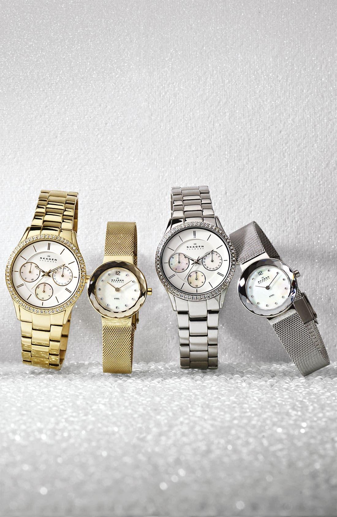 Alternate Image 3  - Skagen Faceted Glass Bezel Watch