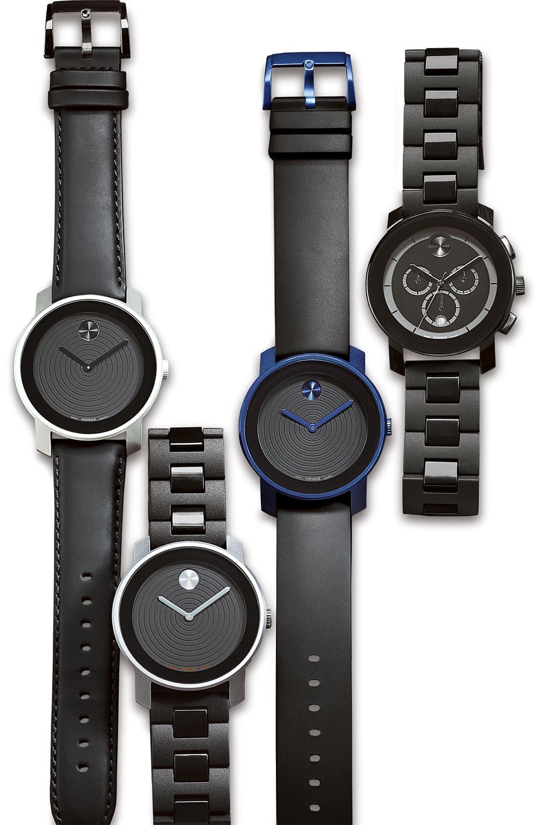 'Bold Chrono' Bracelet Watch, 43mm,                             Alternate thumbnail 2, color,                             Black