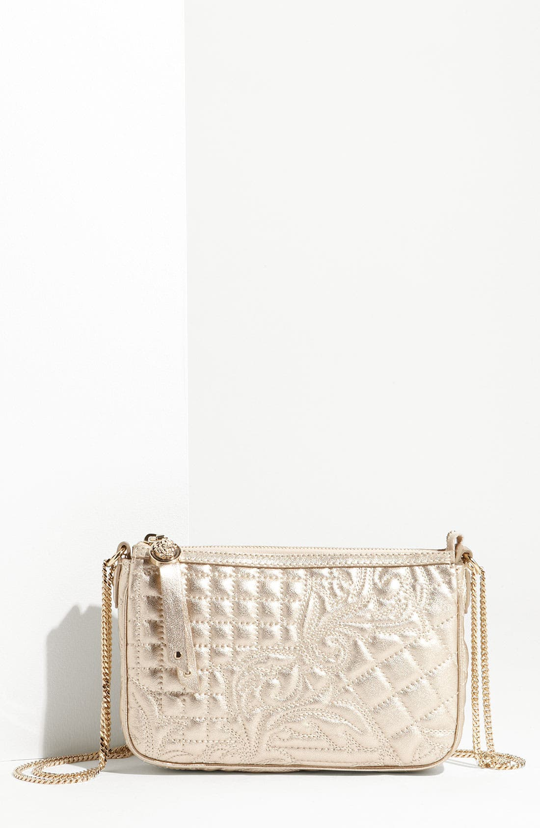 Main Image - Versace 'Vanitas' Embroidered Leather Crossbody Bag