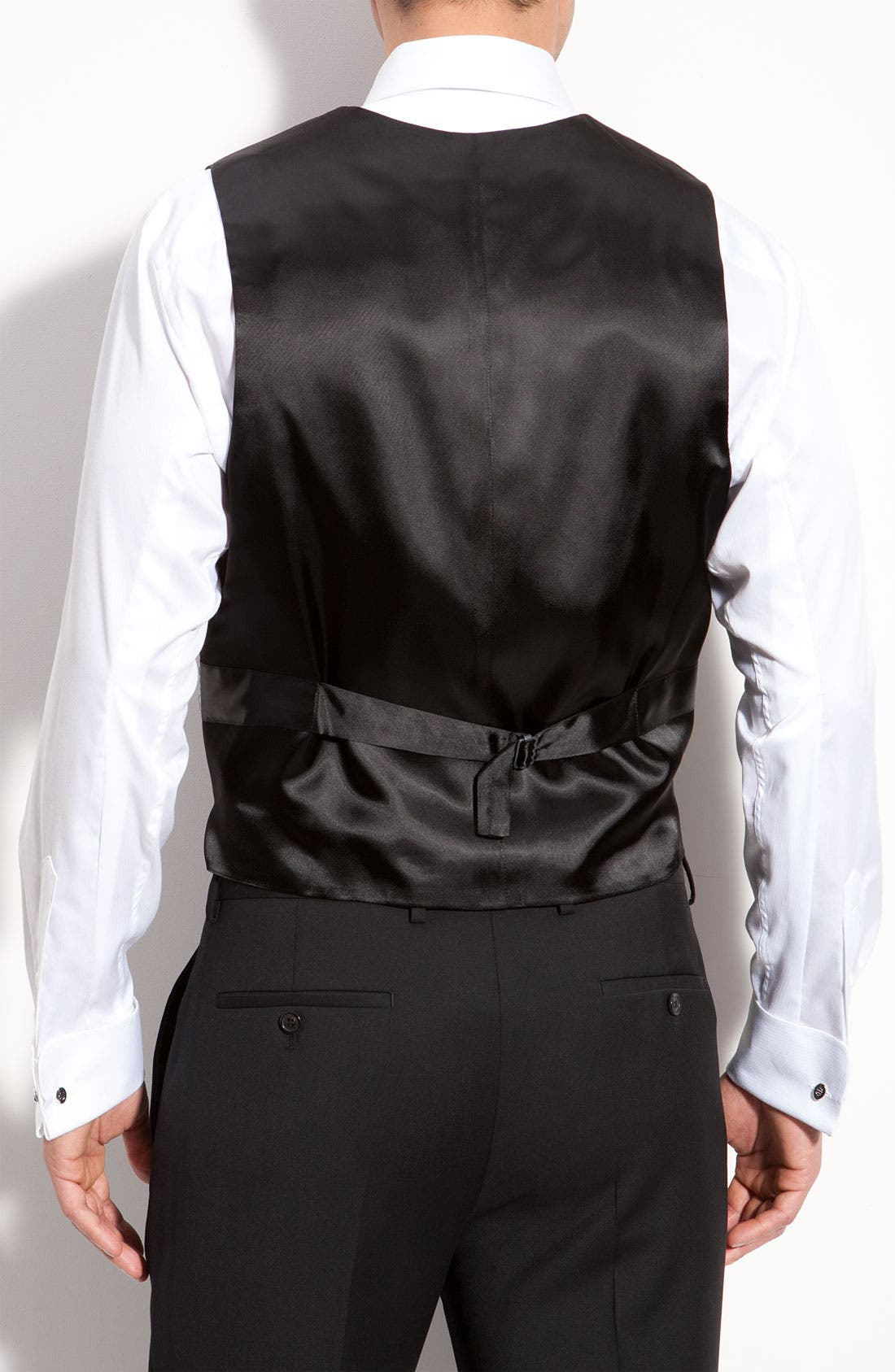 Alternate Image 2  - David Donahue Silk Vest (Online Only)