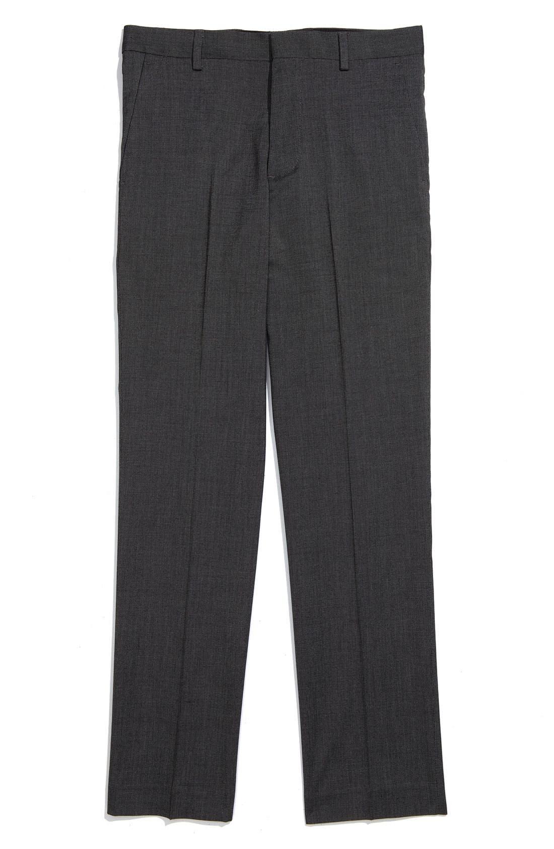 Alternate Image 1 Selected - C2 by Calibrate Flat Front Slim Fit Pants (Big Boys)