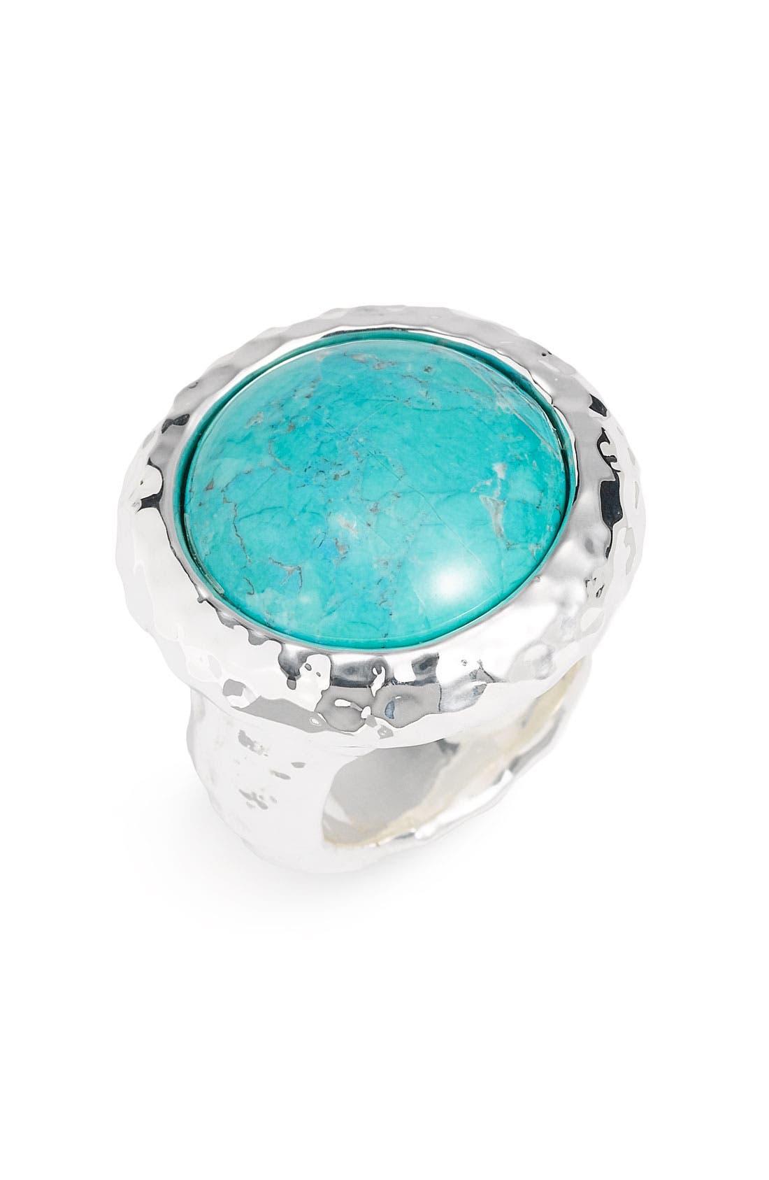 Main Image - Simon Sebbag Hammered Round Stone Ring