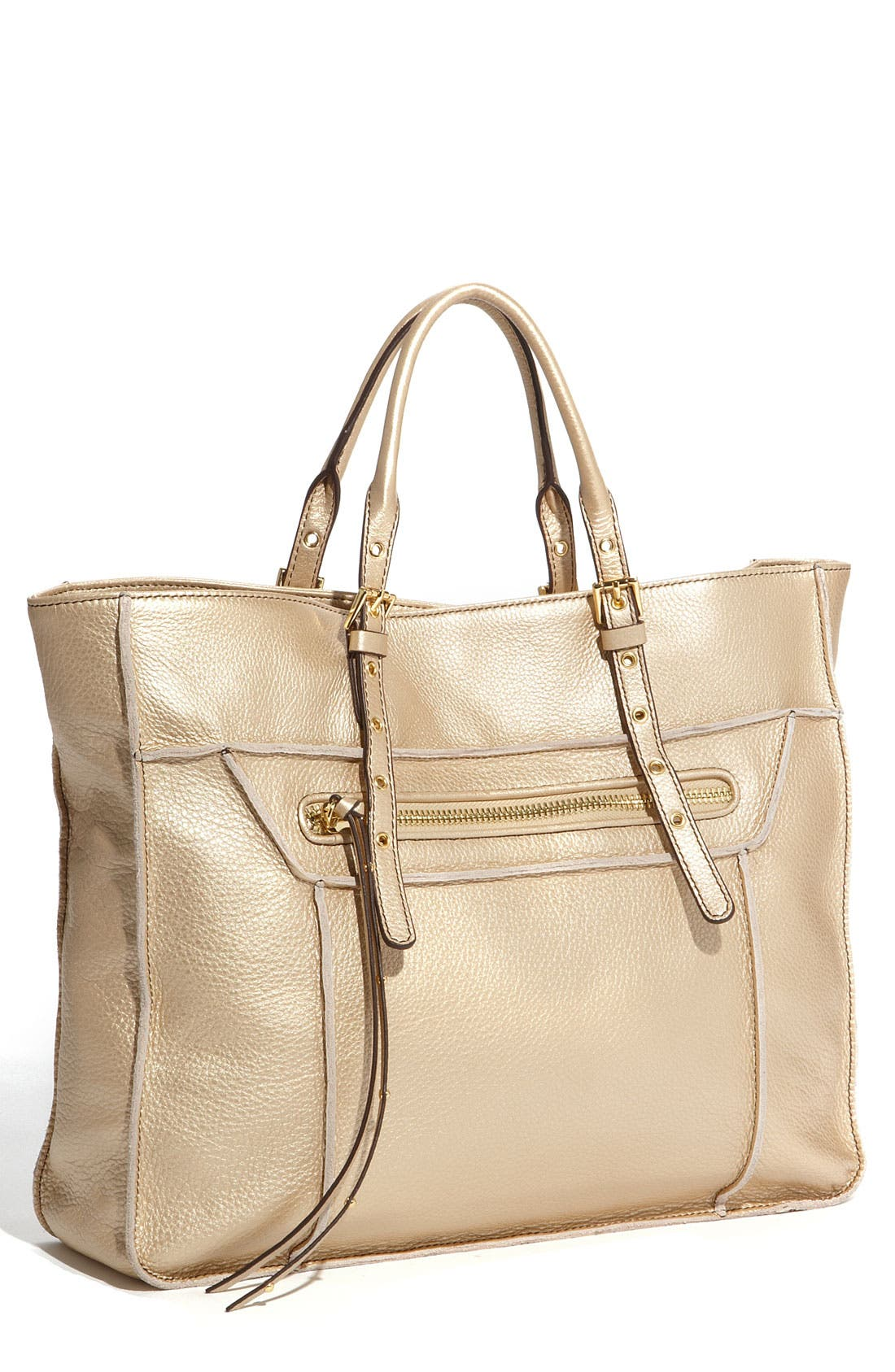 Alternate Image 1 Selected - Steven by Steve Madden 'France' Leather Tote