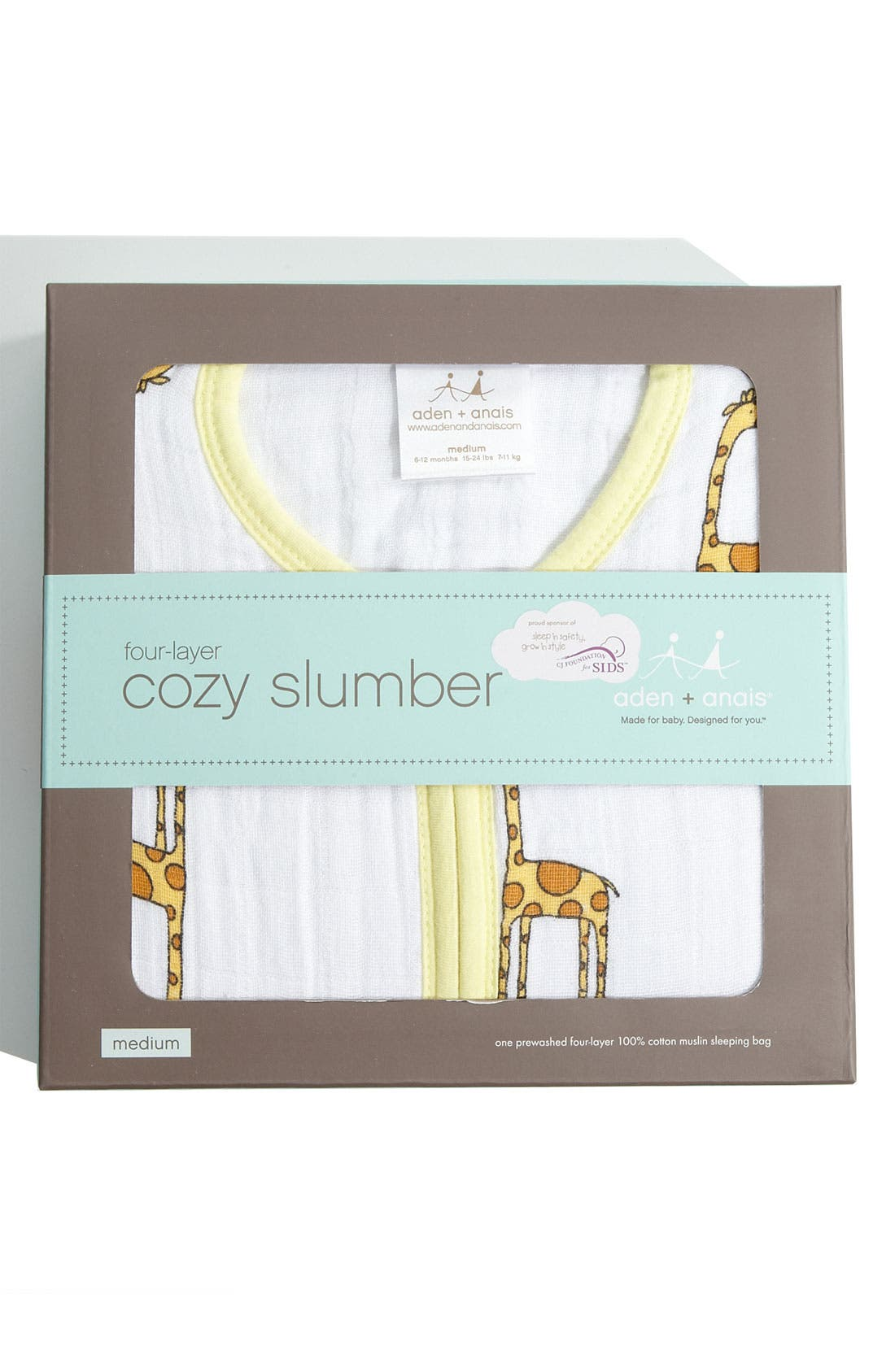 Alternate Image 2  - aden + anais 'Cozy Sleeping Bag' Wearable Blanket (Baby)