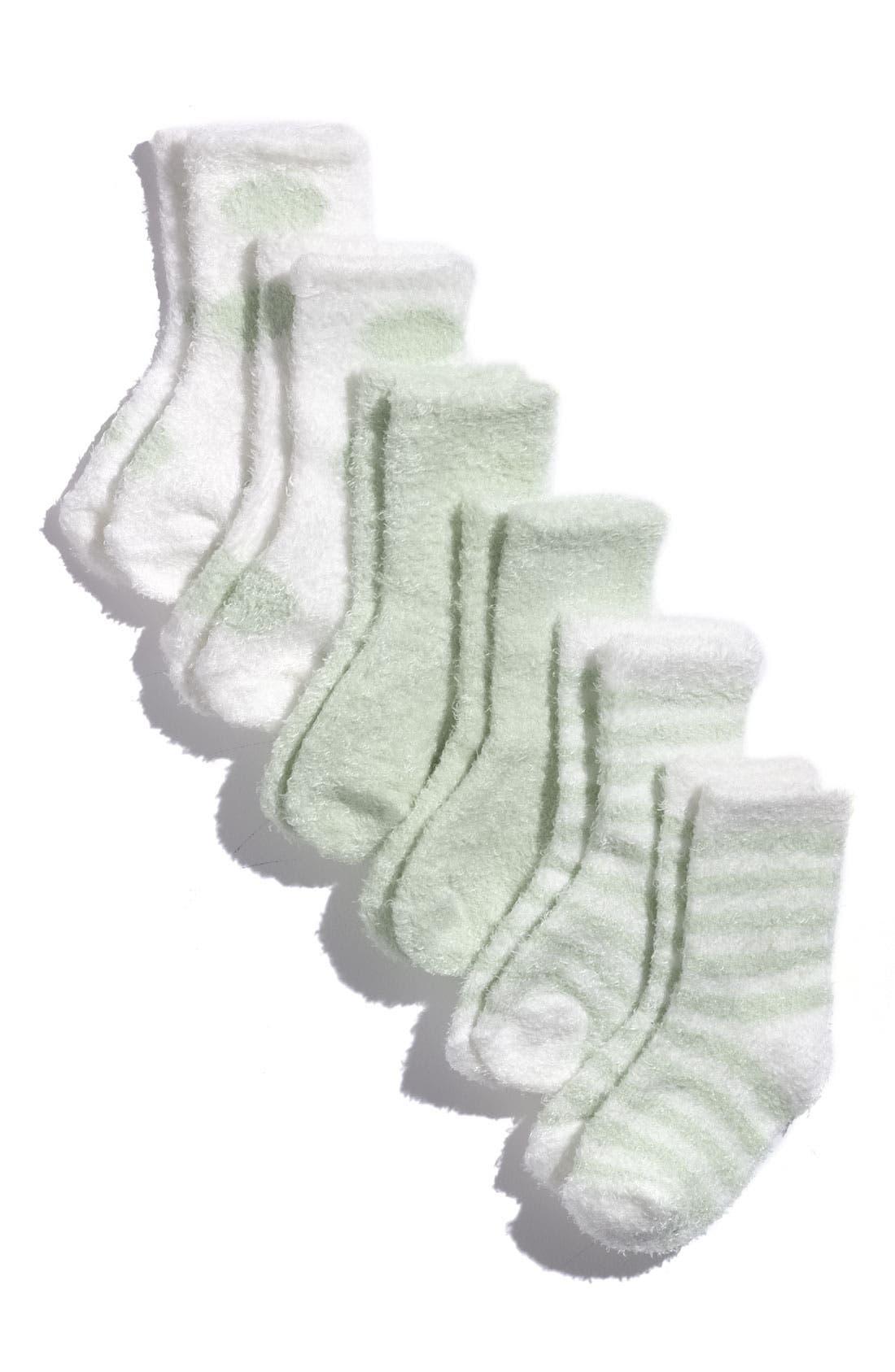 Alternate Image 2  - Little Giraffe Socks (6-Pack) (Baby)