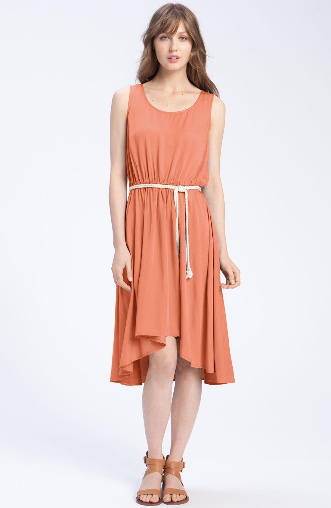 Alternate Image 1 Selected - Caslon® Belted Woven Tank Dress