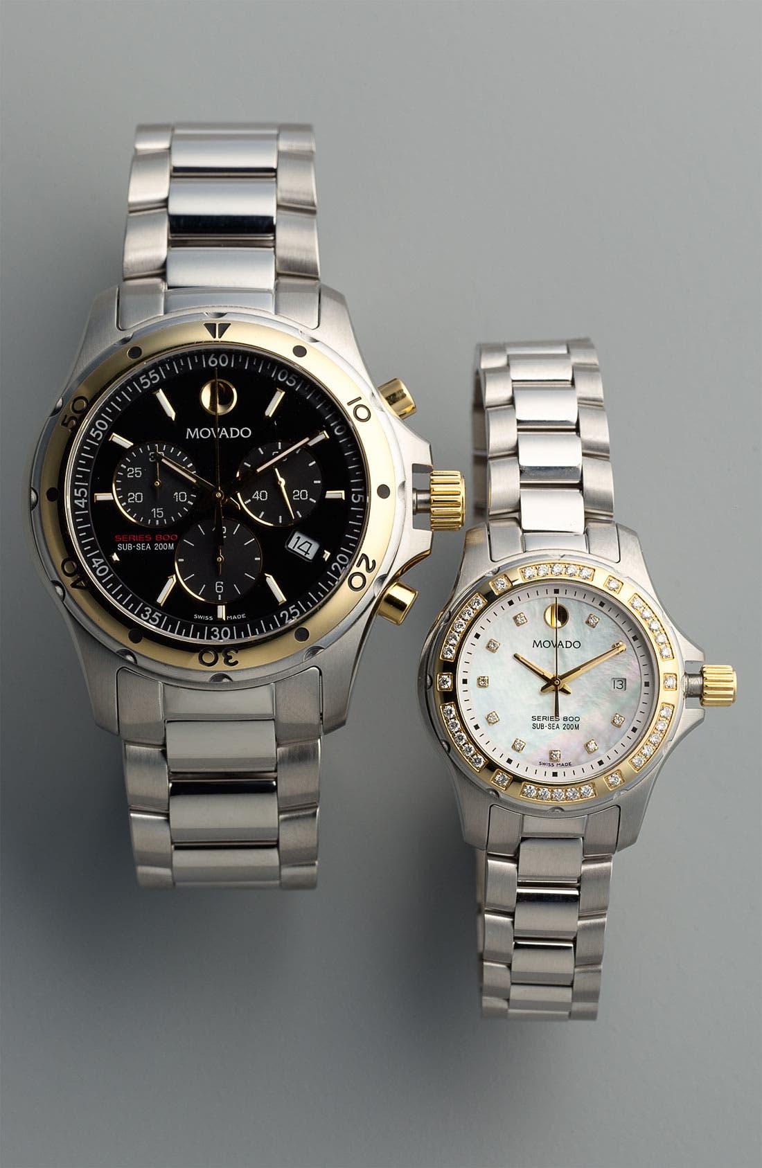 Alternate Image 2  - Movado 'Series 800' Chronograph Bracelet Watch