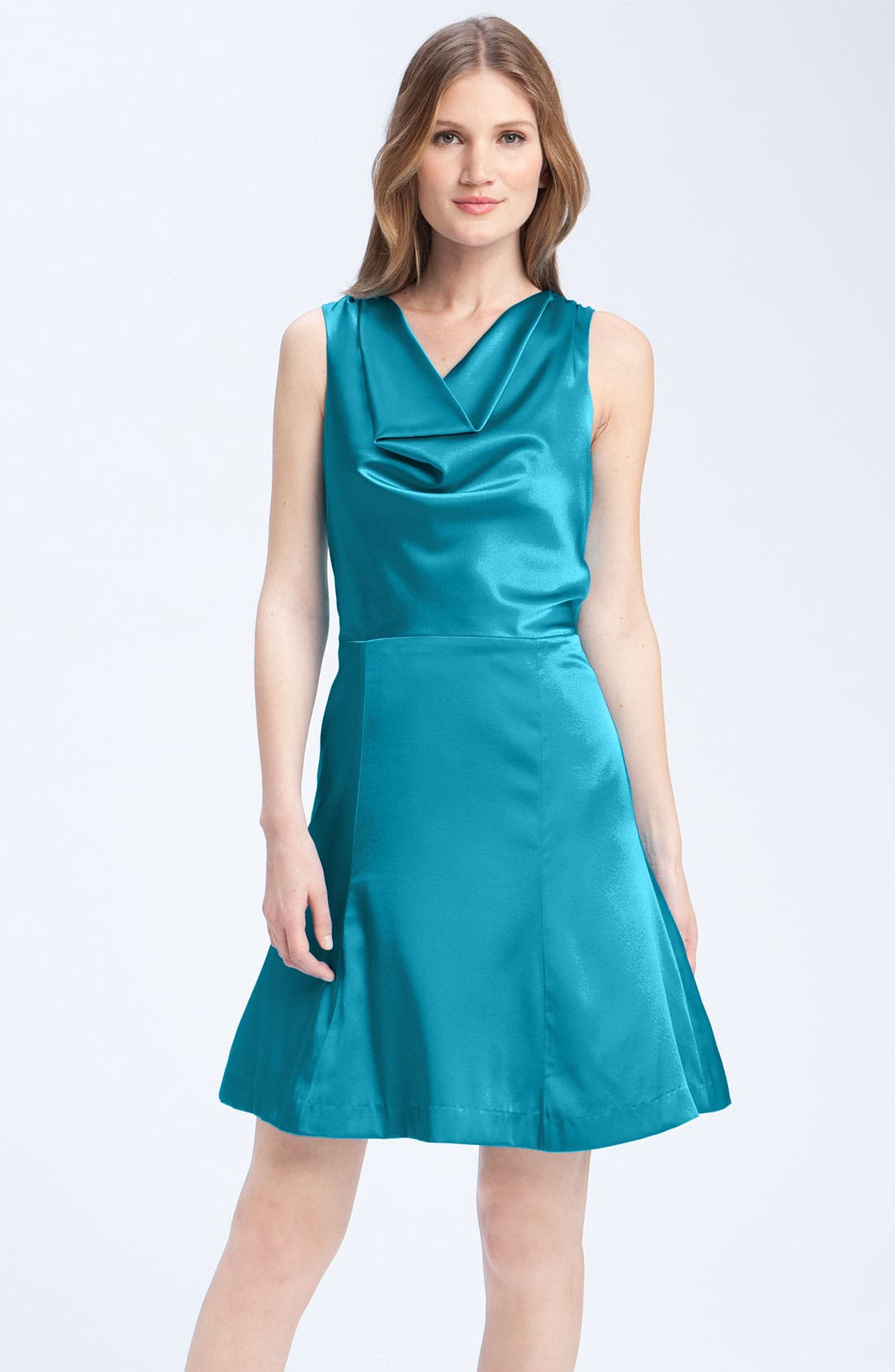 Alternate Image 1 Selected - Anna Elyse Bridesmaids Drape Neck Charmeuse Dress
