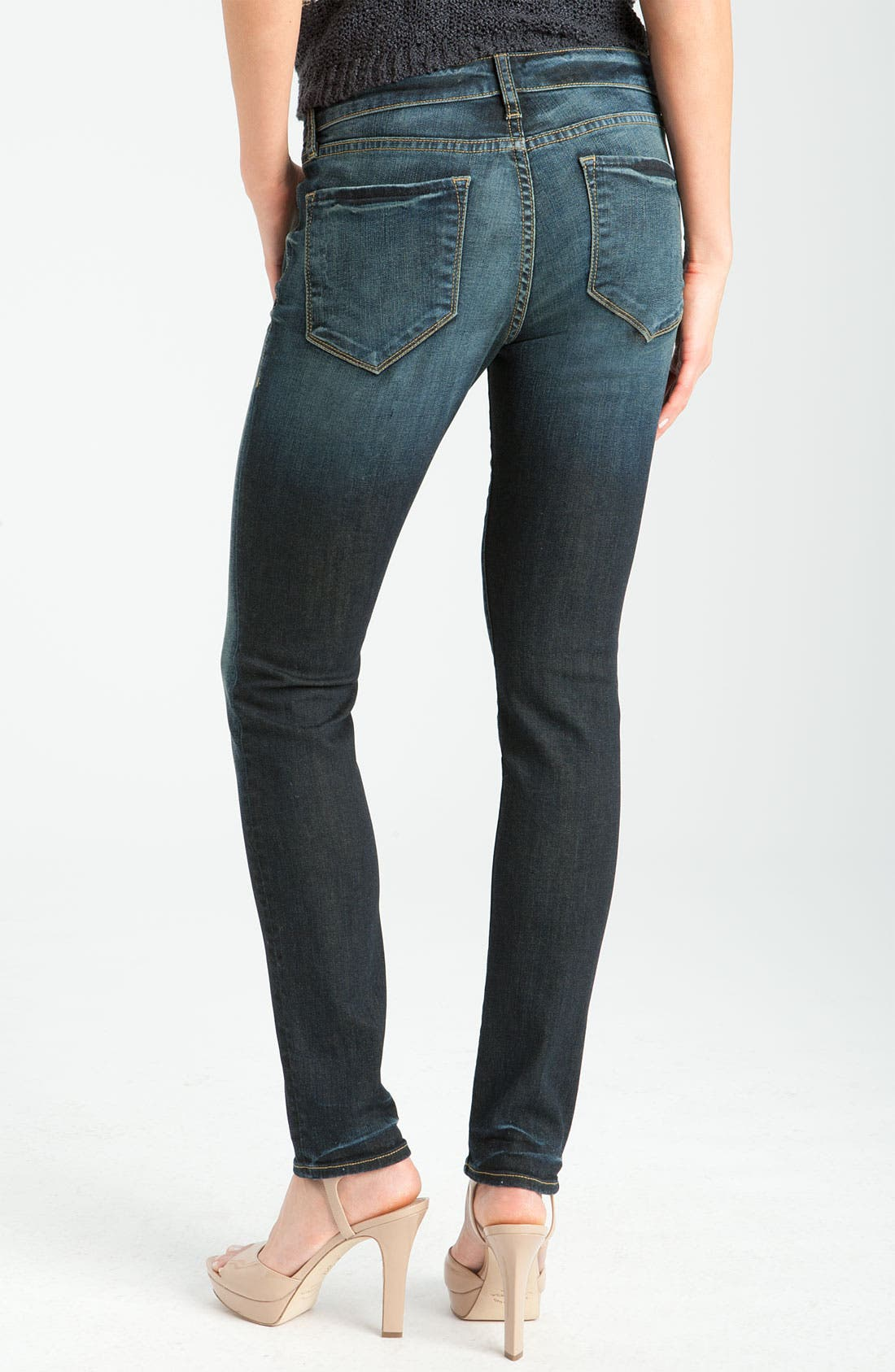 Alternate Image 1 Selected - !iT Collective Coated Skinny Jeans
