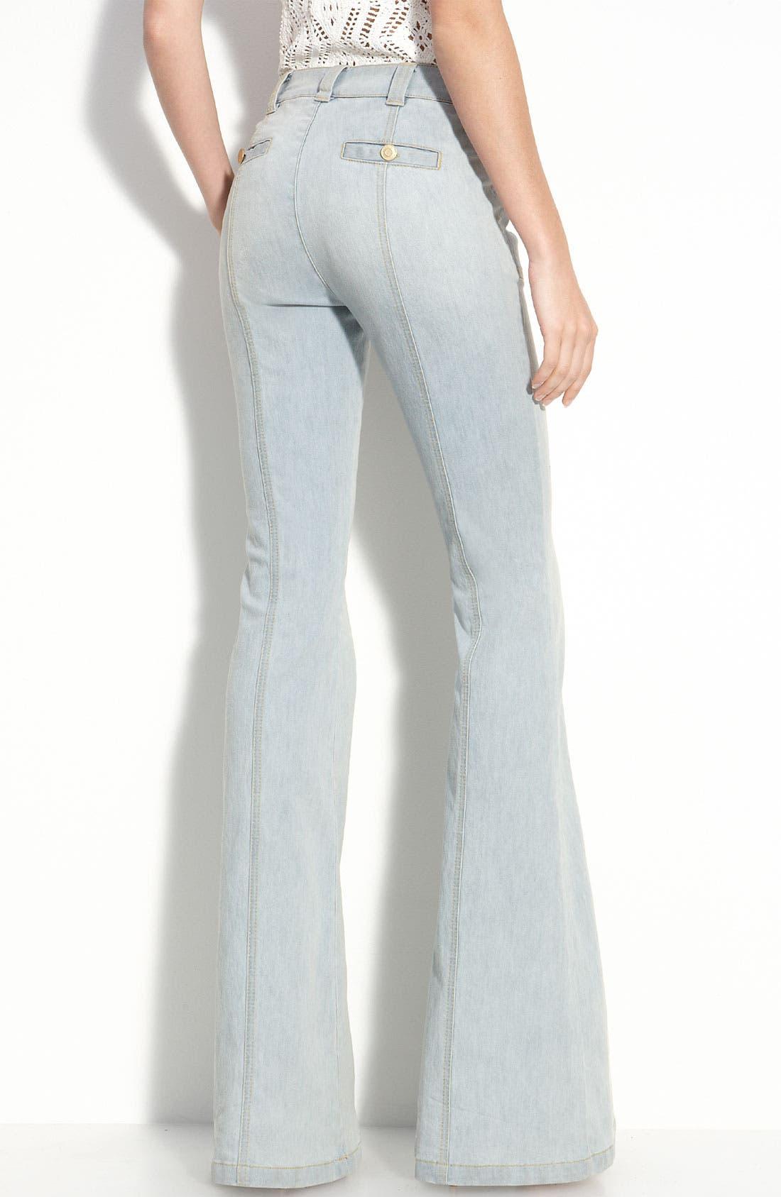 Main Image - Rachel Zoe 'Campbell' Flare Leg Stretch Jeans (Long)