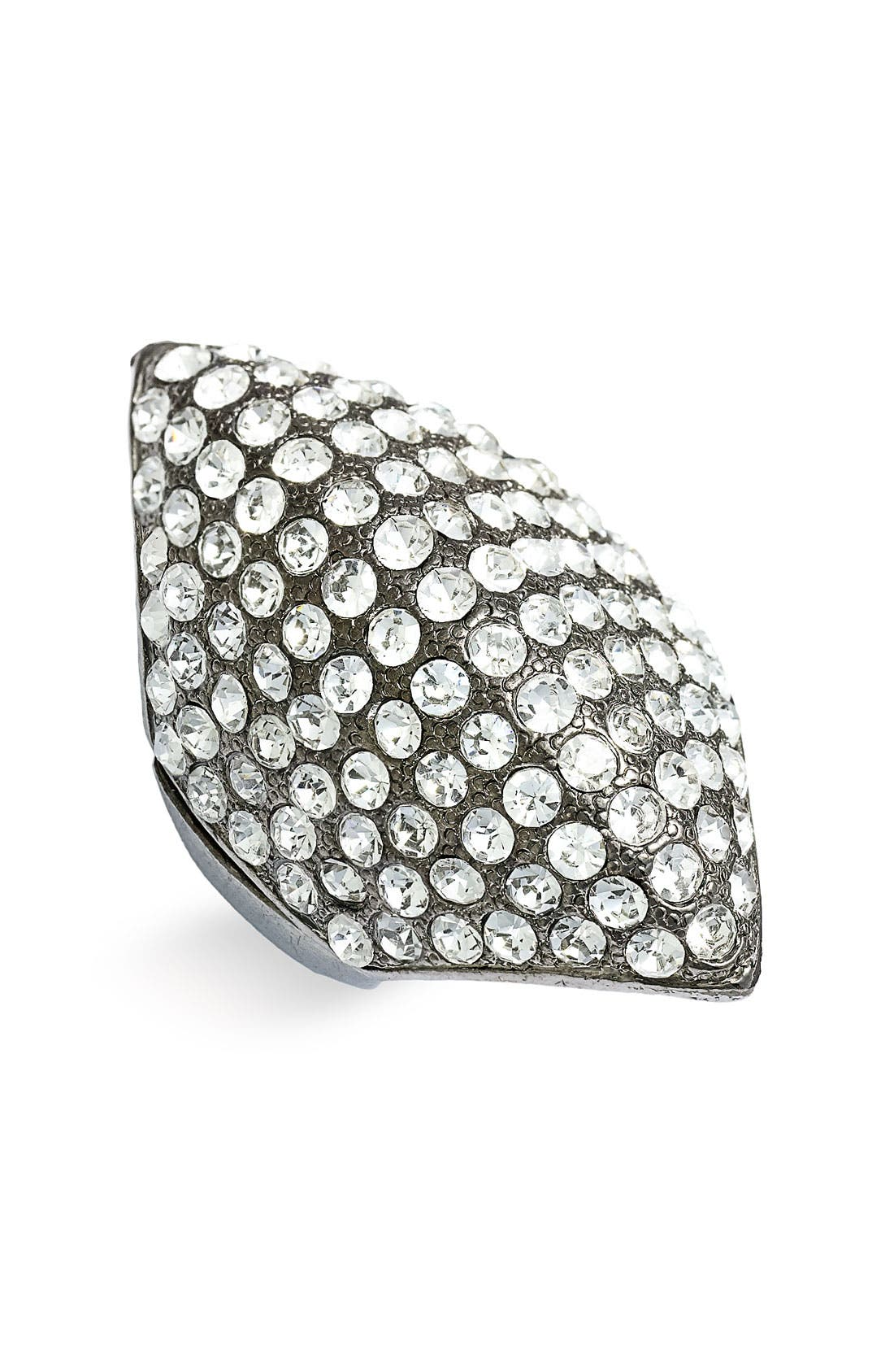 Alternate Image 1 Selected - Stephan & Co. Rhinestone Pointed Dome Cocktail Ring