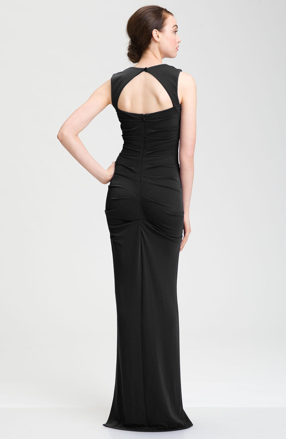 Alternate Image 2  - Nicole Miller Open Back Jersey Gown