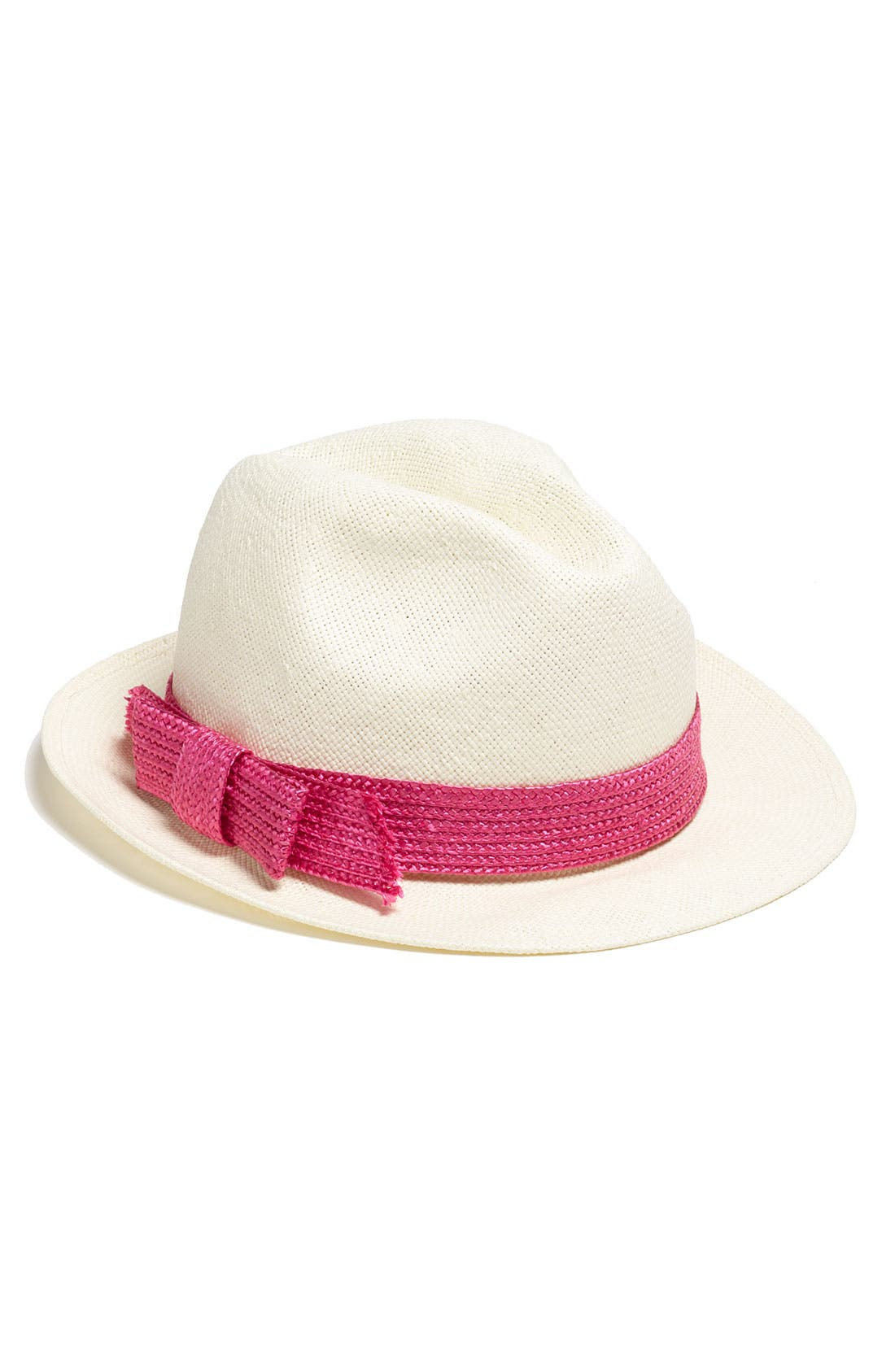 Alternate Image 1 Selected - kate spade new york straw fedora