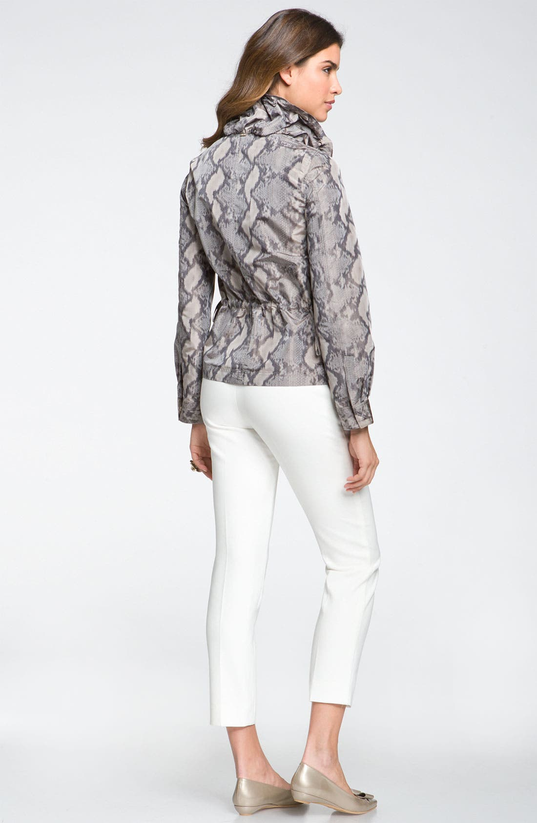 Alternate Image 2  - St John Yellow Label Ruched Collar Print Jacket