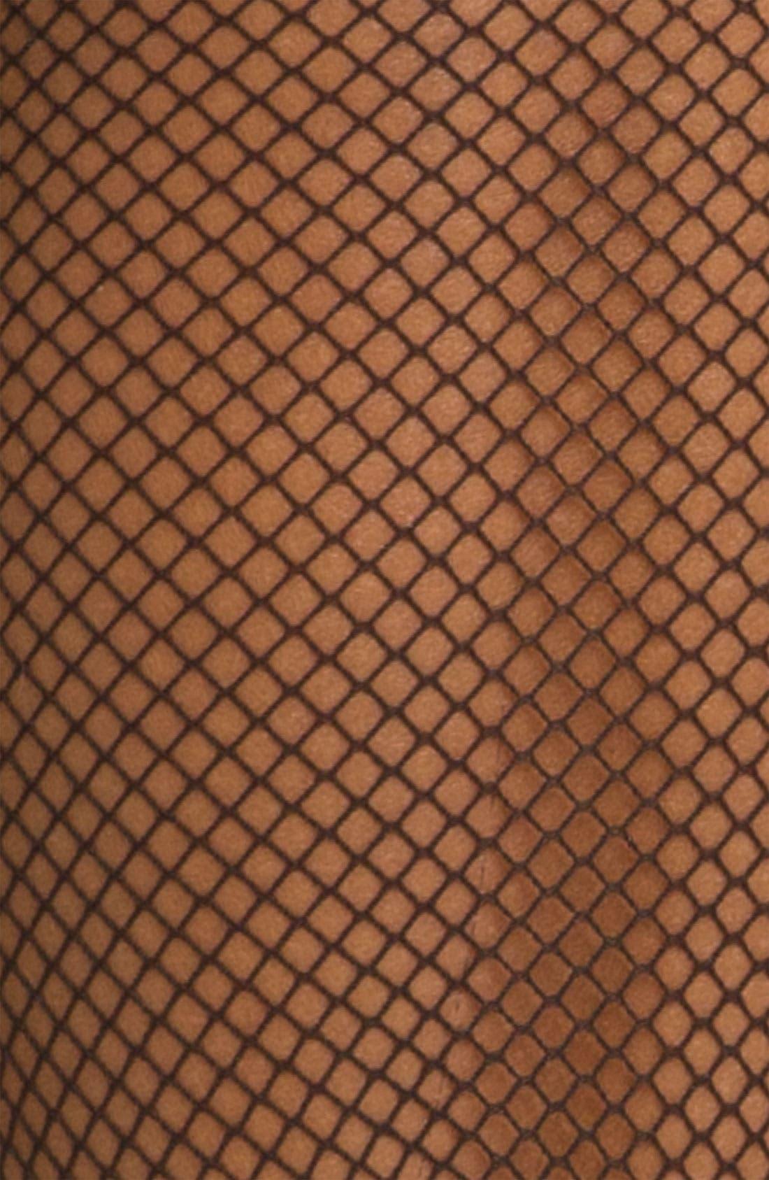 Fishnet Trouser Socks,                             Alternate thumbnail 2, color,                             Black