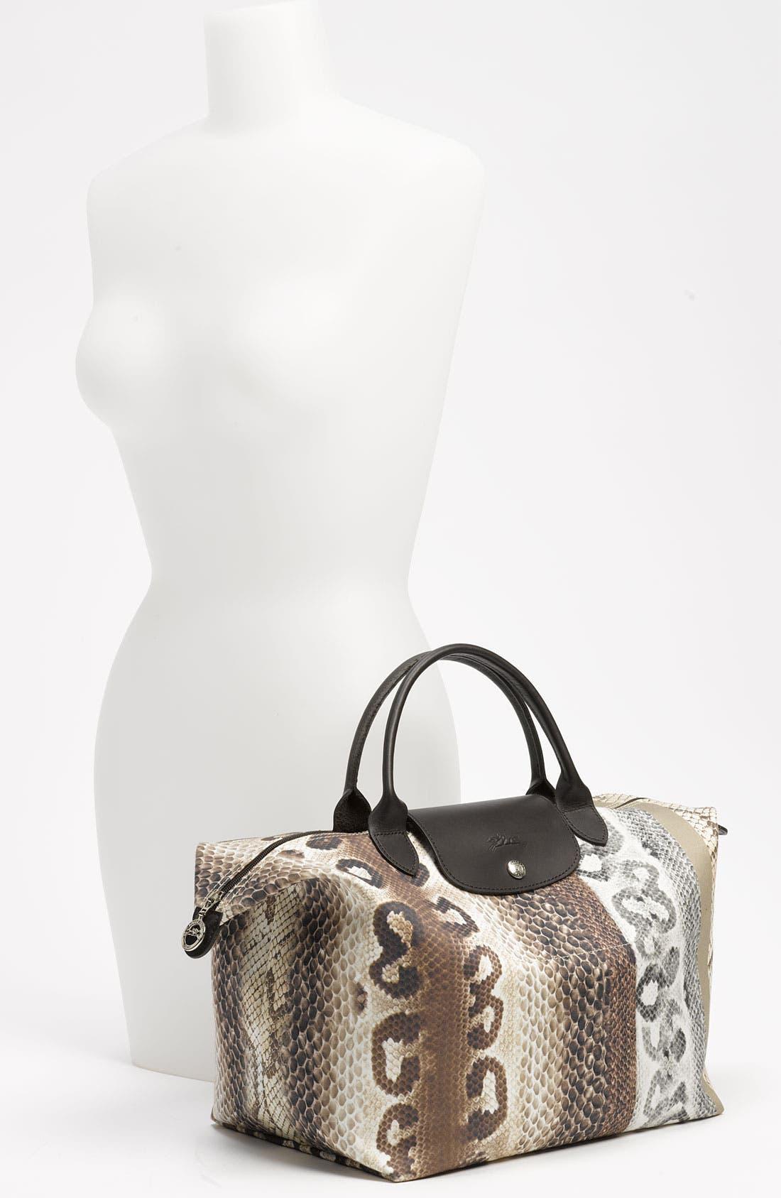 Alternate Image 2  - Longchamp 'Reptiligne Toile' Handbag