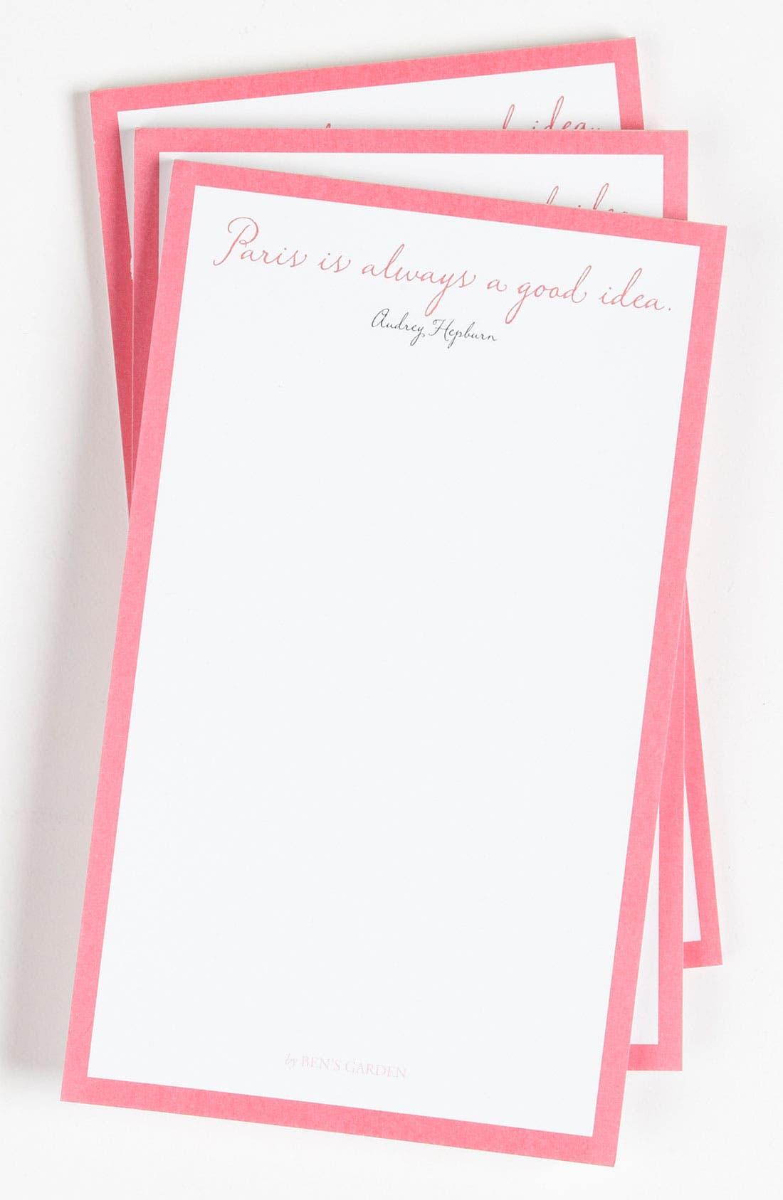 Alternate Image 1 Selected - Ben's Garden 'Paris Is Always' Notepads (3-Pack)