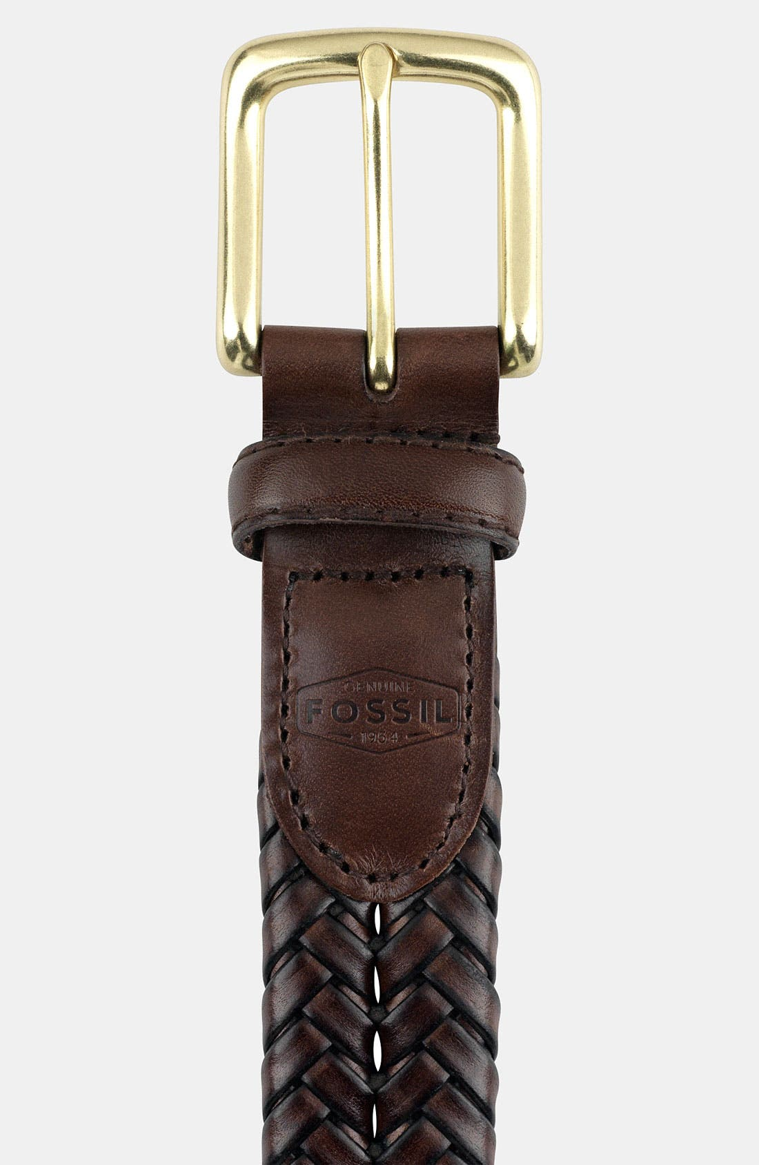 FOSSIL Maddox Leather Braid Belt