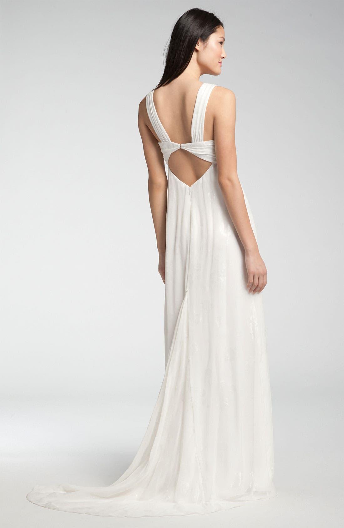 Alternate Image 2  - Nicole Miller V-Strap Gown