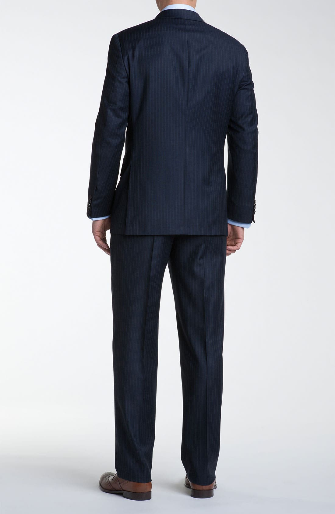 Alternate Image 3  - Hickey Freeman Bead Stripe Wool Suit
