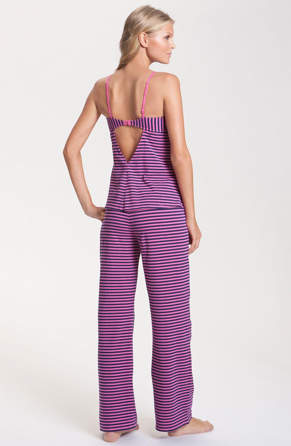 Alternate Image 2  - Betsey Johnson Stripe Stretch Cotton Pajamas