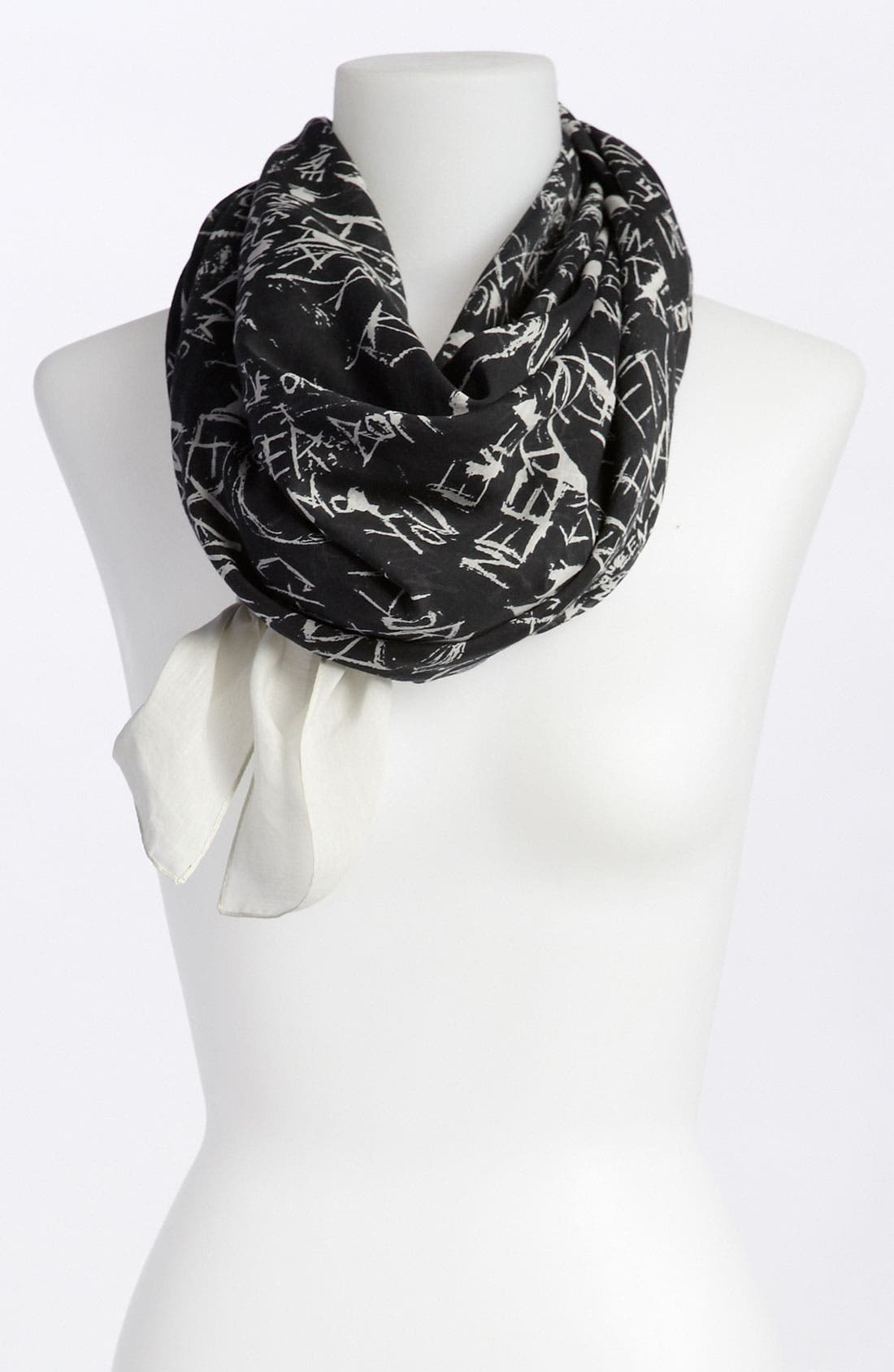 Alternate Image 1 Selected - McQ by Alexander McQueen 'Graffiti' Cotton & Silk Scarf