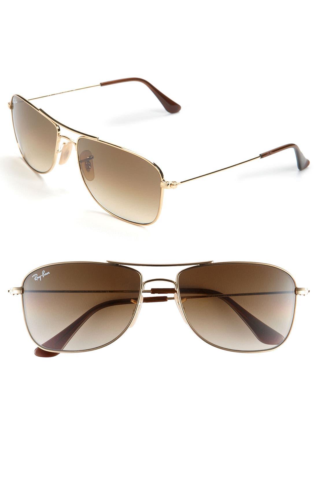 Main Image - Ray-Ban 'Square Aviator' 56mm Sunglasses