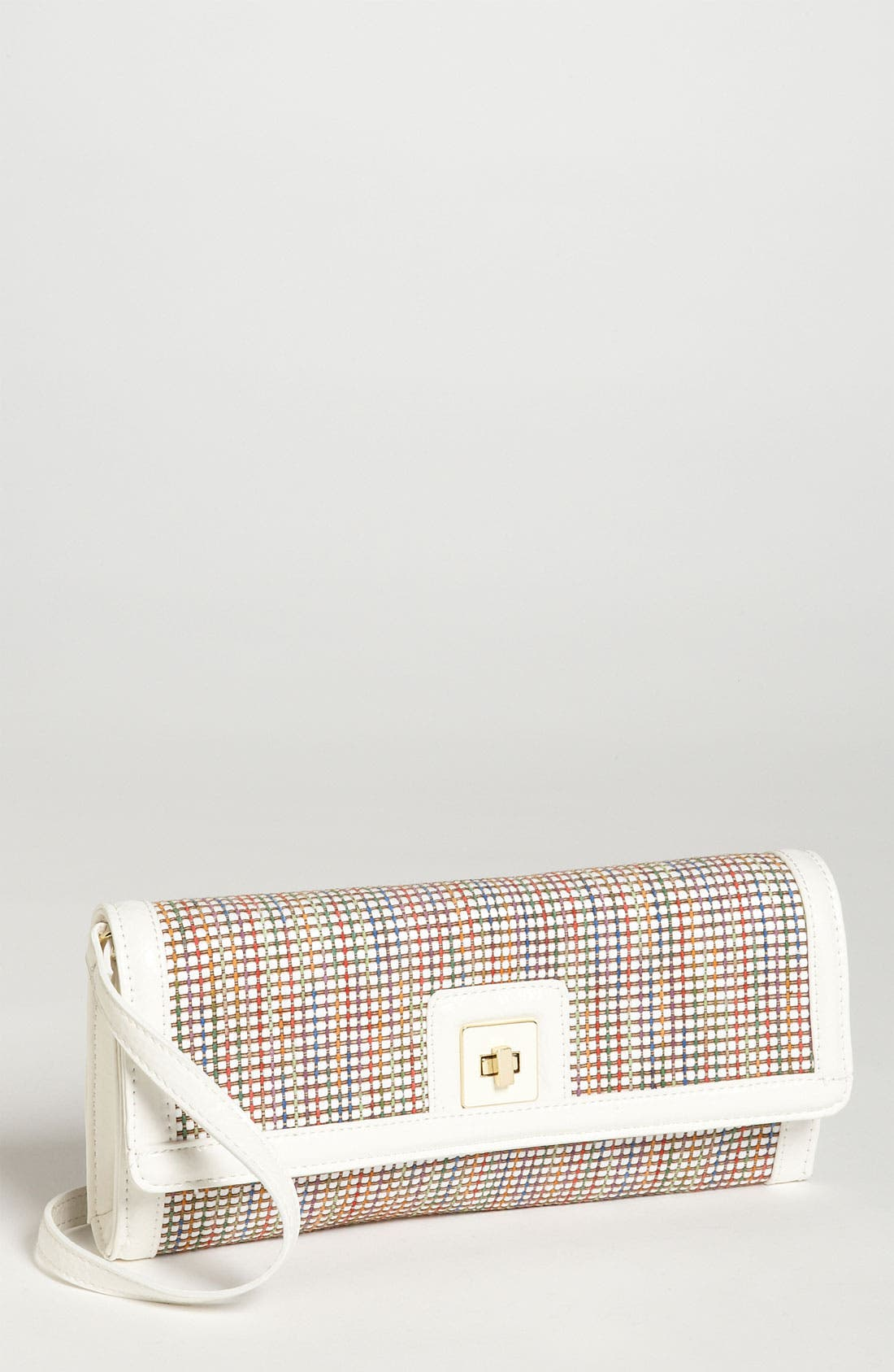 Alternate Image 1 Selected - SR Squared by Sondra Roberts Multicolored Straw Clutch