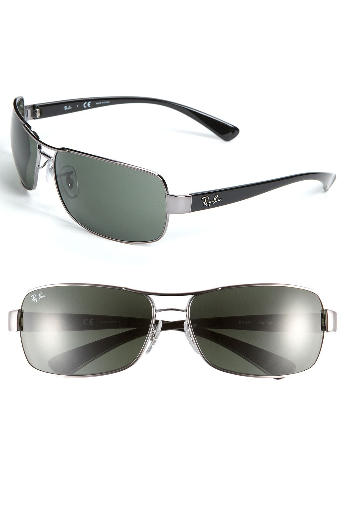 Alternate Image 1 Selected - Ray-Ban 64mm Wrap Sunglasses
