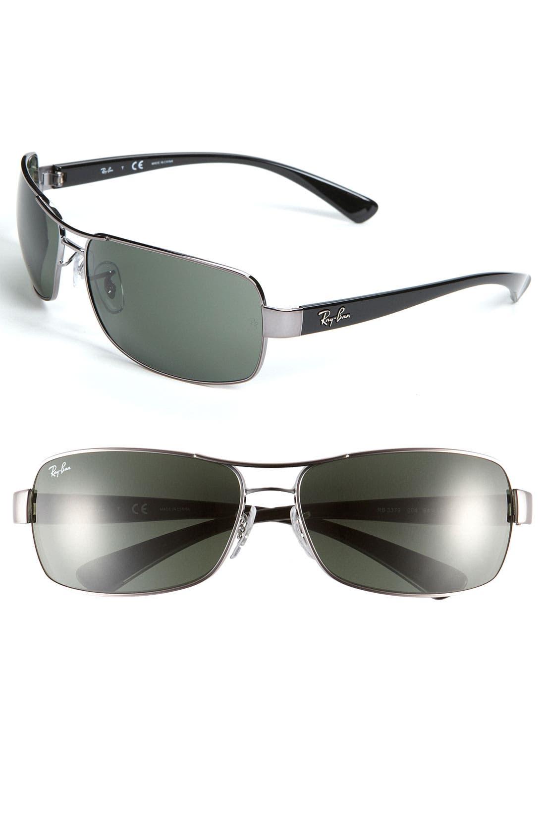 Main Image - Ray-Ban 64mm Wrap Sunglasses