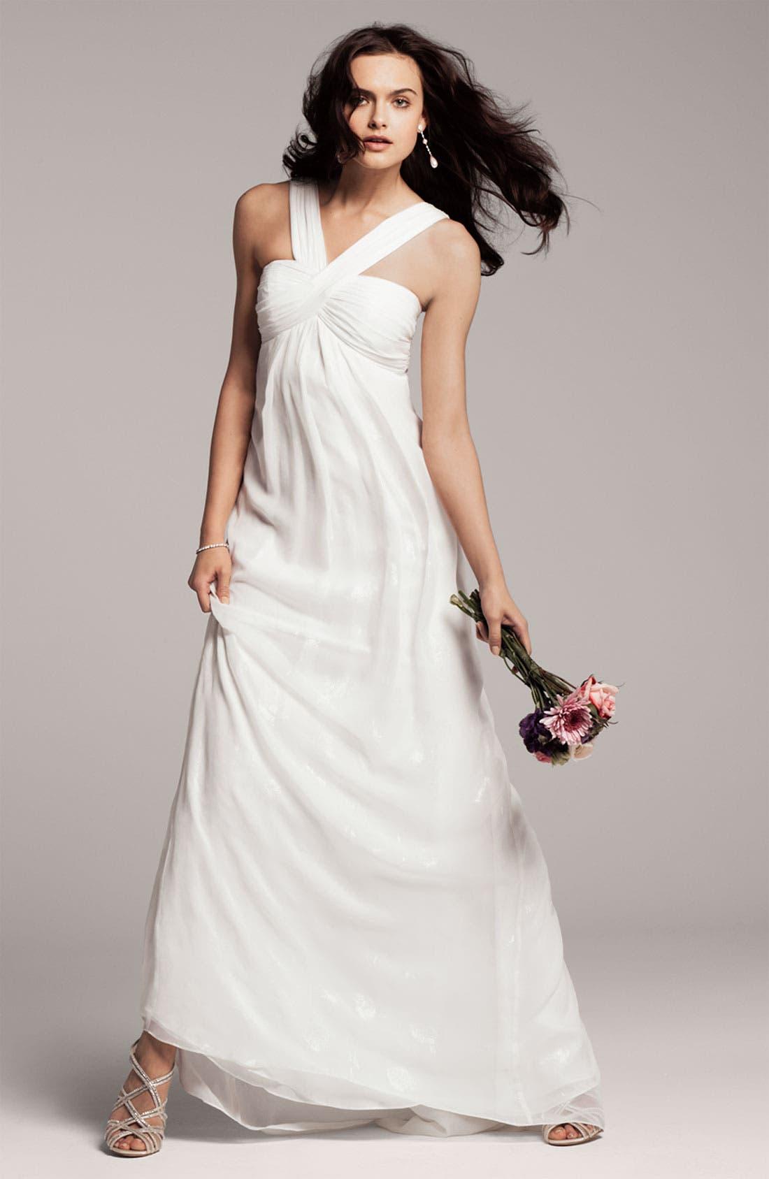 Alternate Image 4  - Nicole Miller V-Strap Gown